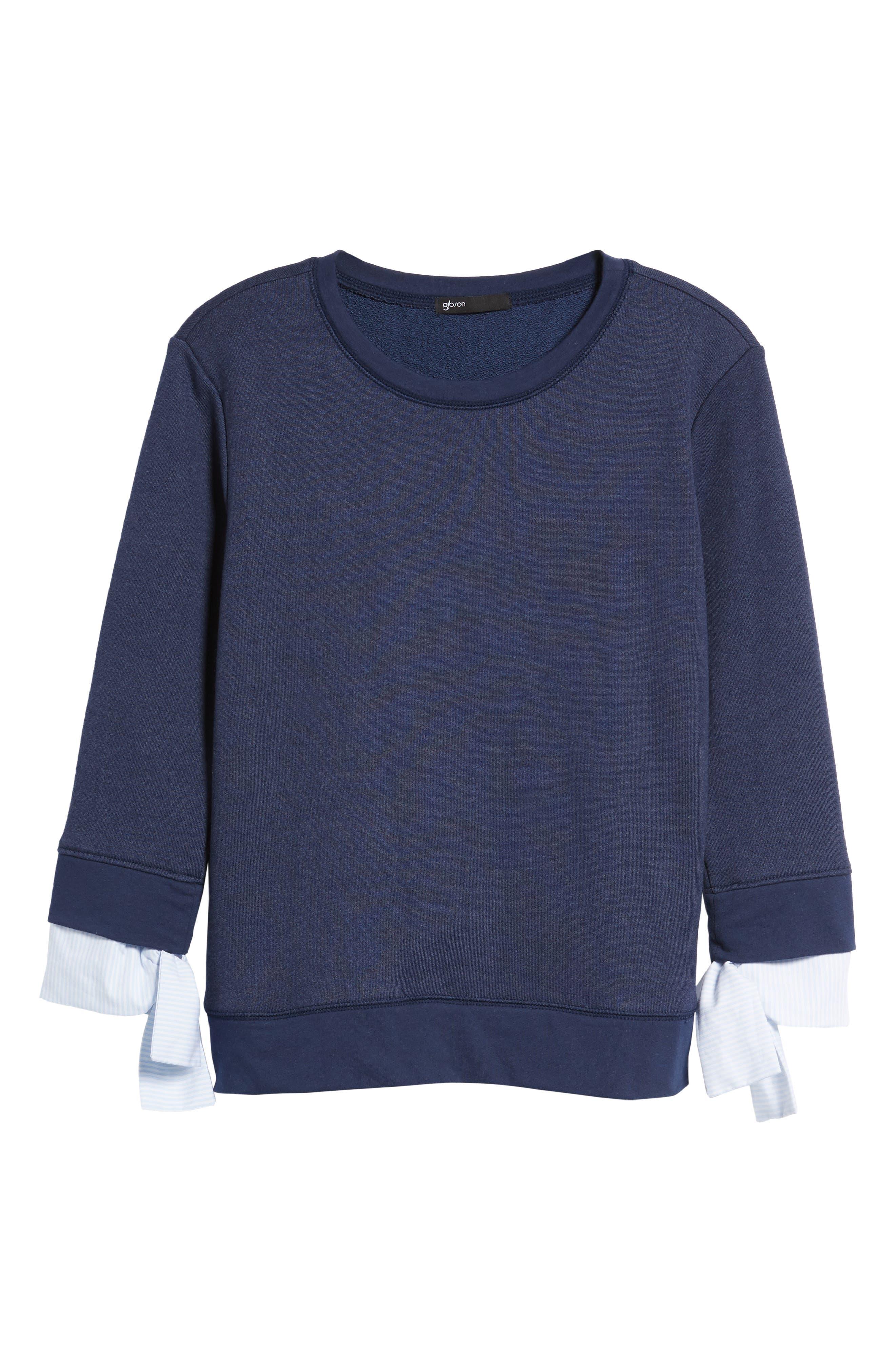 Gibson Tie Sleeve Sweatshirt (Regular & Petite)