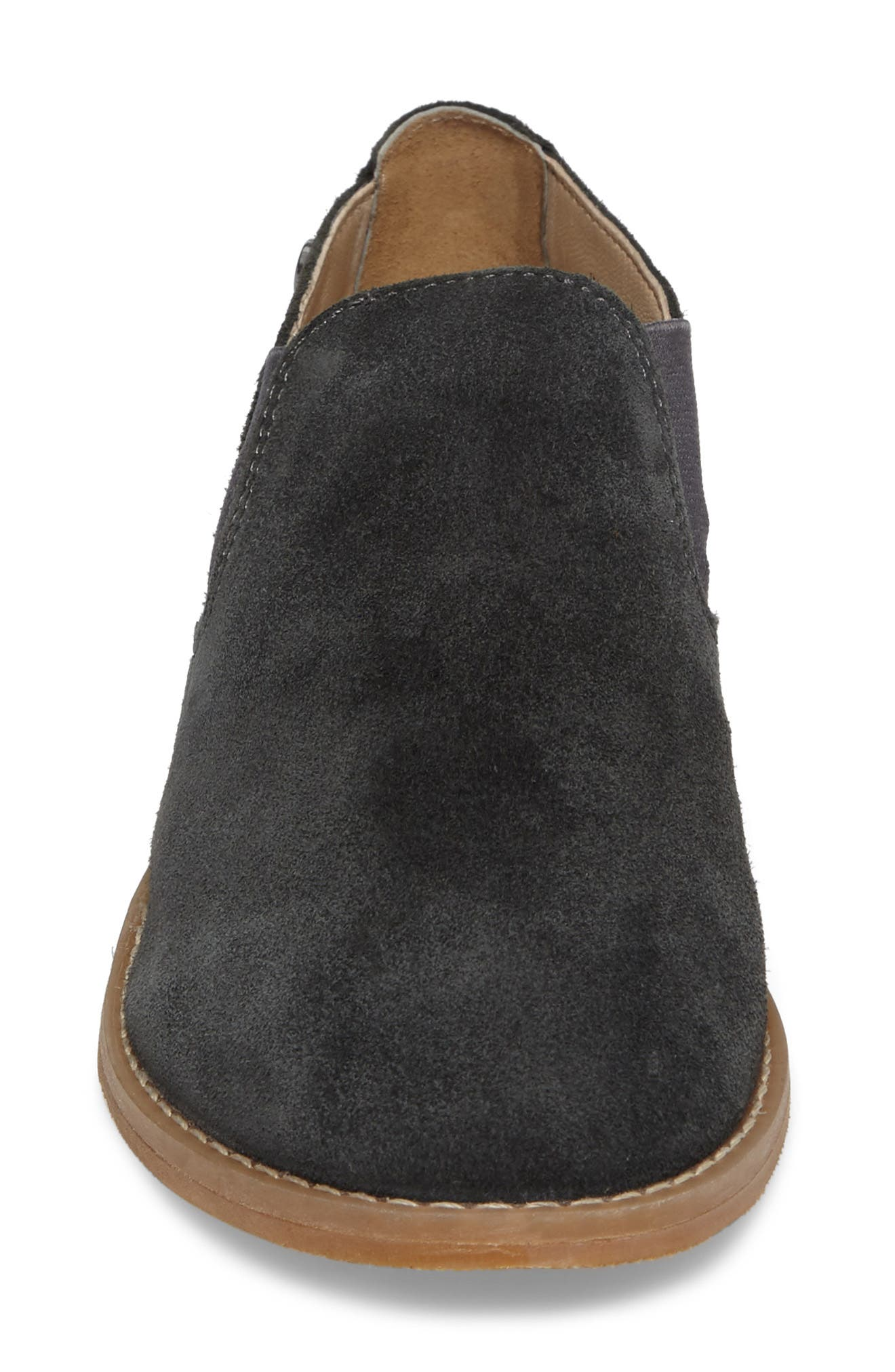 Analise Clever Flat,                             Alternate thumbnail 4, color,                             Granite Gray Suede