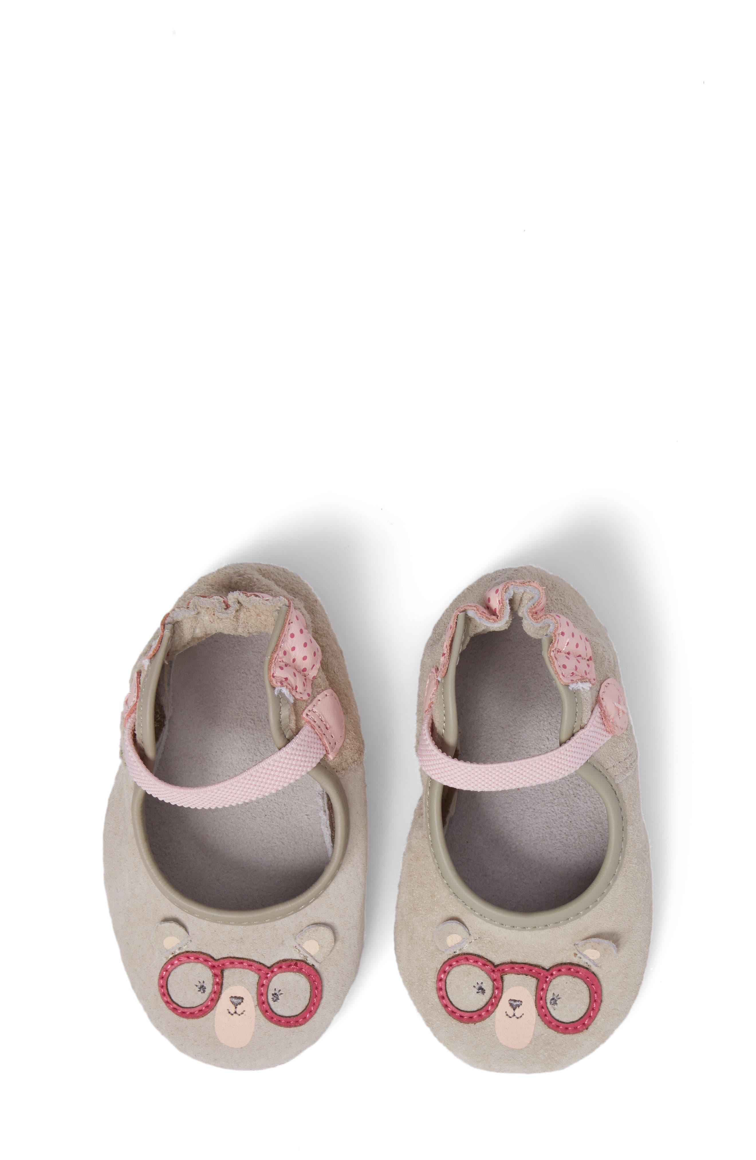 Alternate Image 1 Selected - Robeez® Miss Bear Mary Jane Crib Shoe (Baby & Walker)