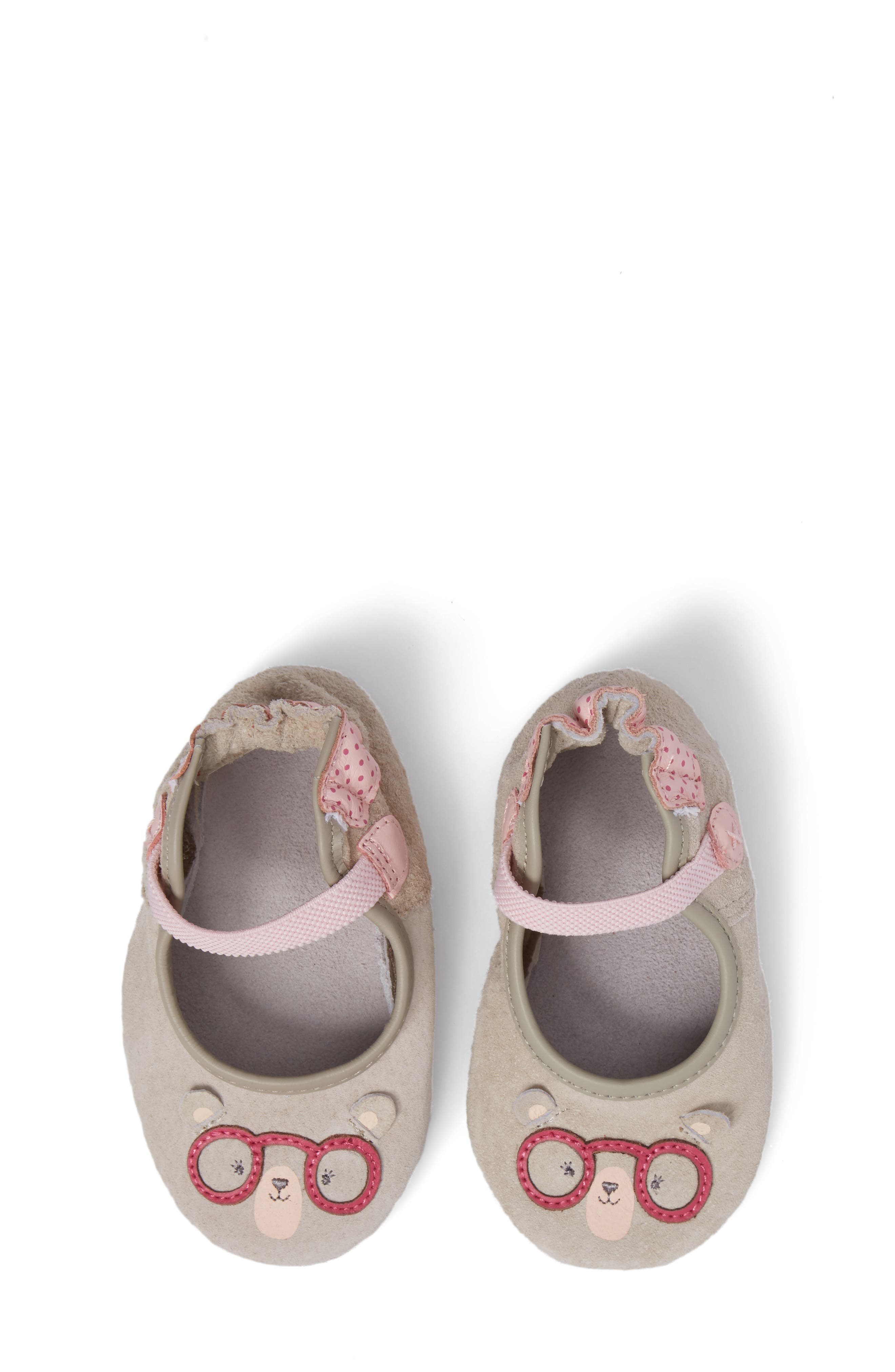 Robeez® Miss Bear Mary Jane Crib Shoe (Baby & Walker)