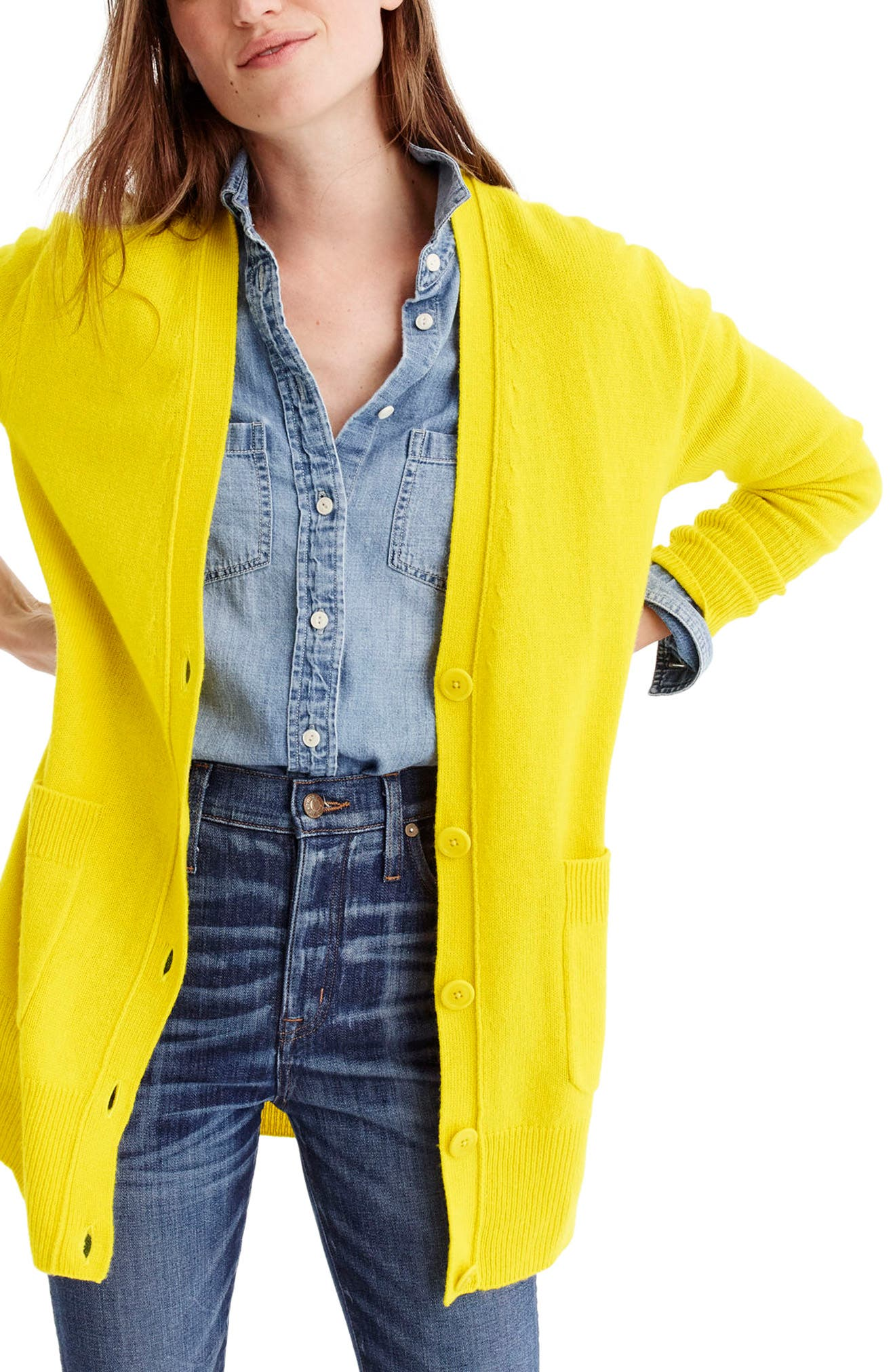 Alternate Image 1 Selected - J.Crew Oversize Wool Blend Cardigan