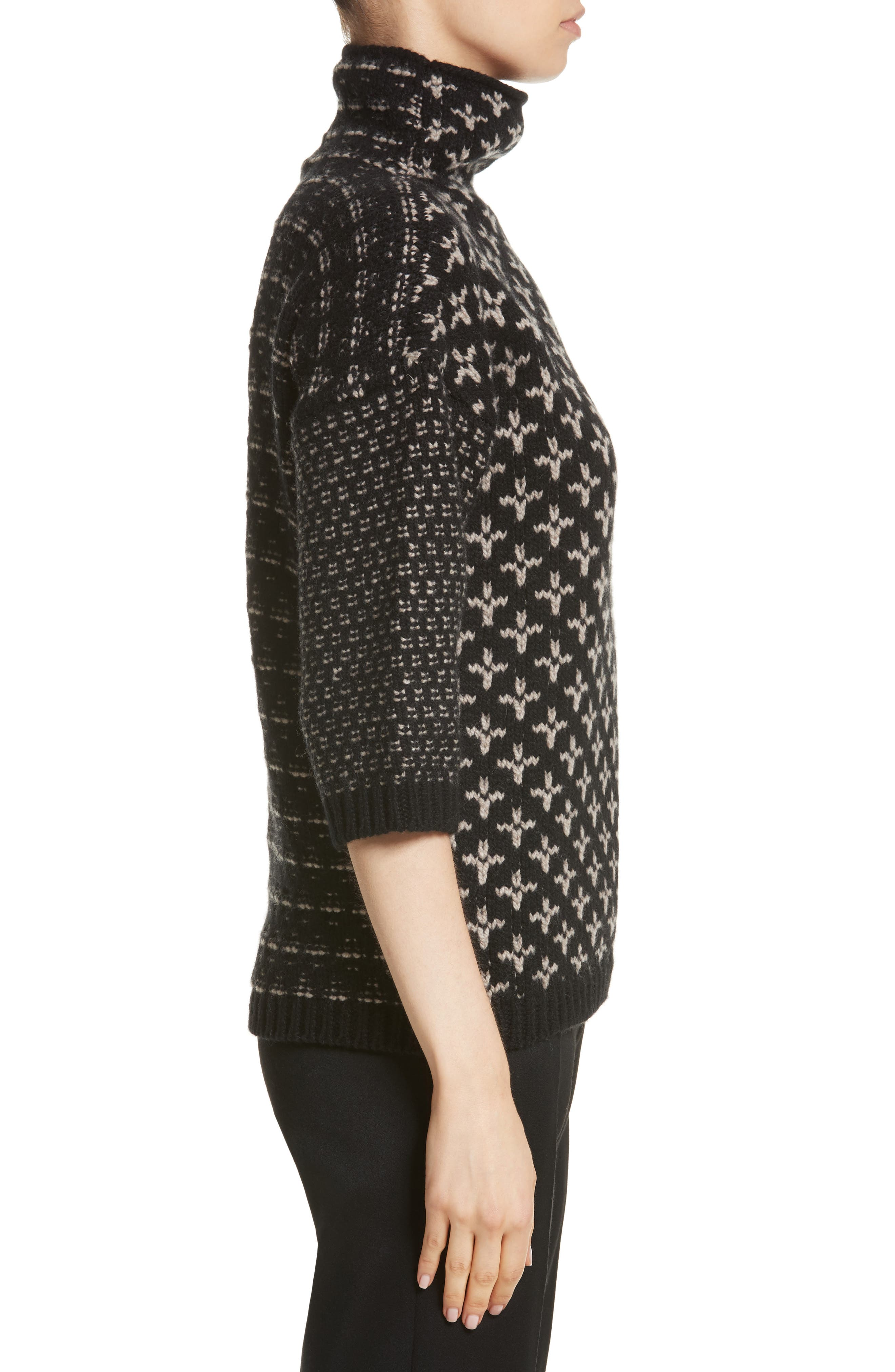 Rana Wool & Cashmere Sweater,                             Alternate thumbnail 3, color,                             Black