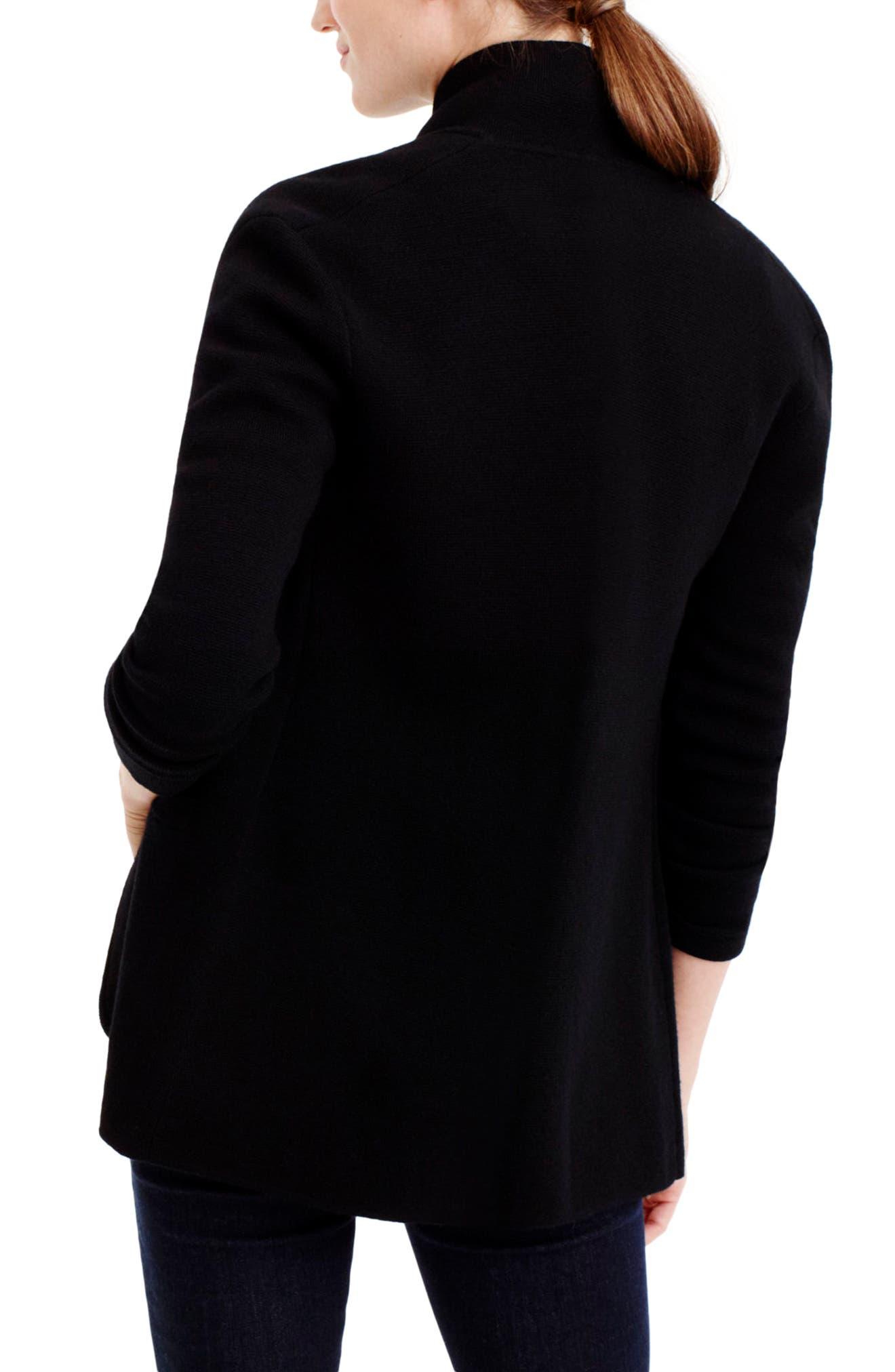 Alternate Image 2  - J.Crew Merino Wool Sweater Blazer