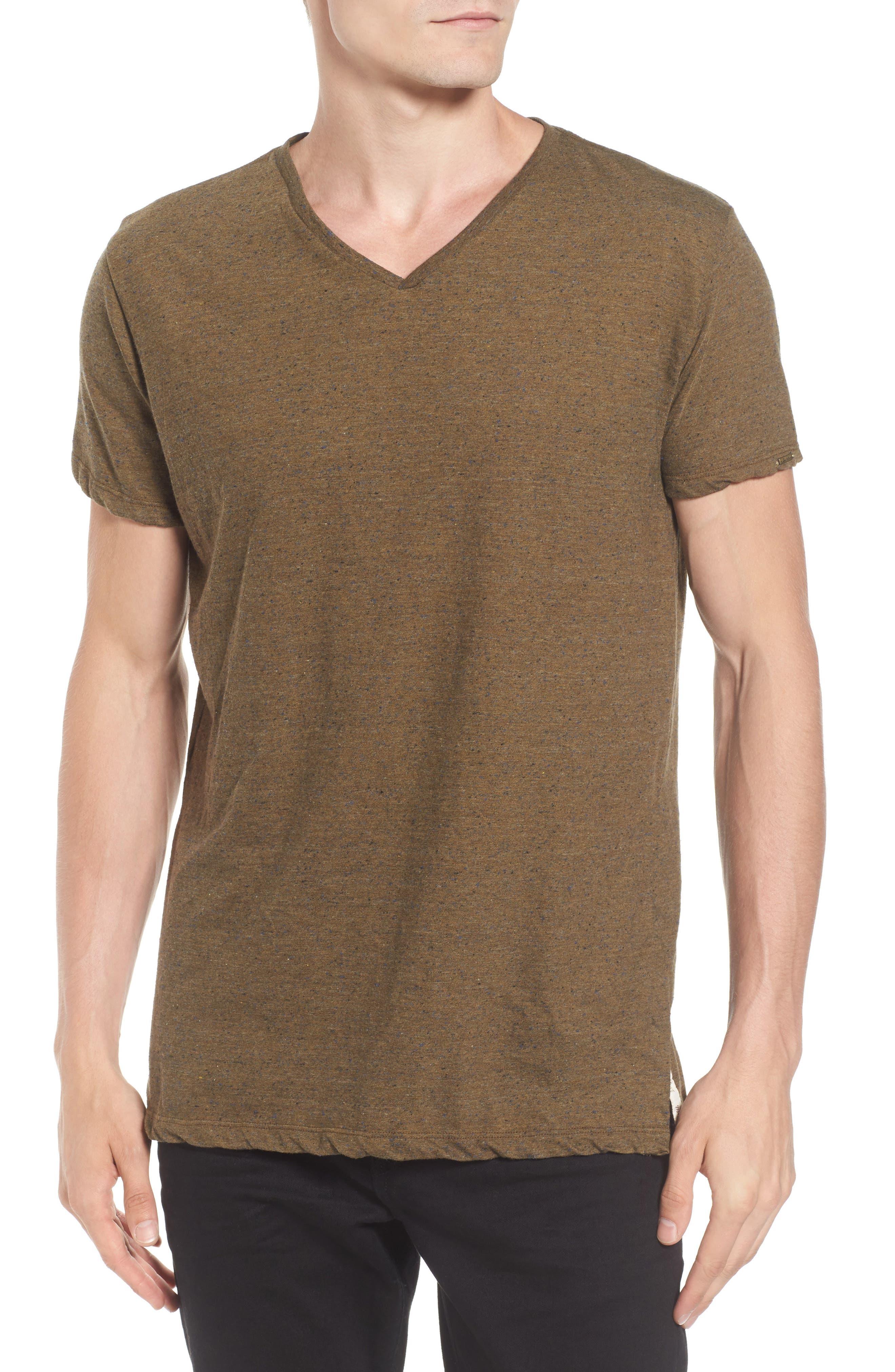 Mélange Jersey T-Shirt,                         Main,                         color, Green