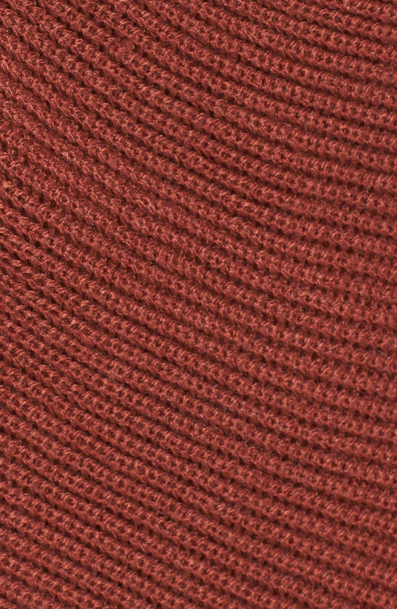 Wrap Front Sweater,                             Alternate thumbnail 5, color,                             Brown Spice