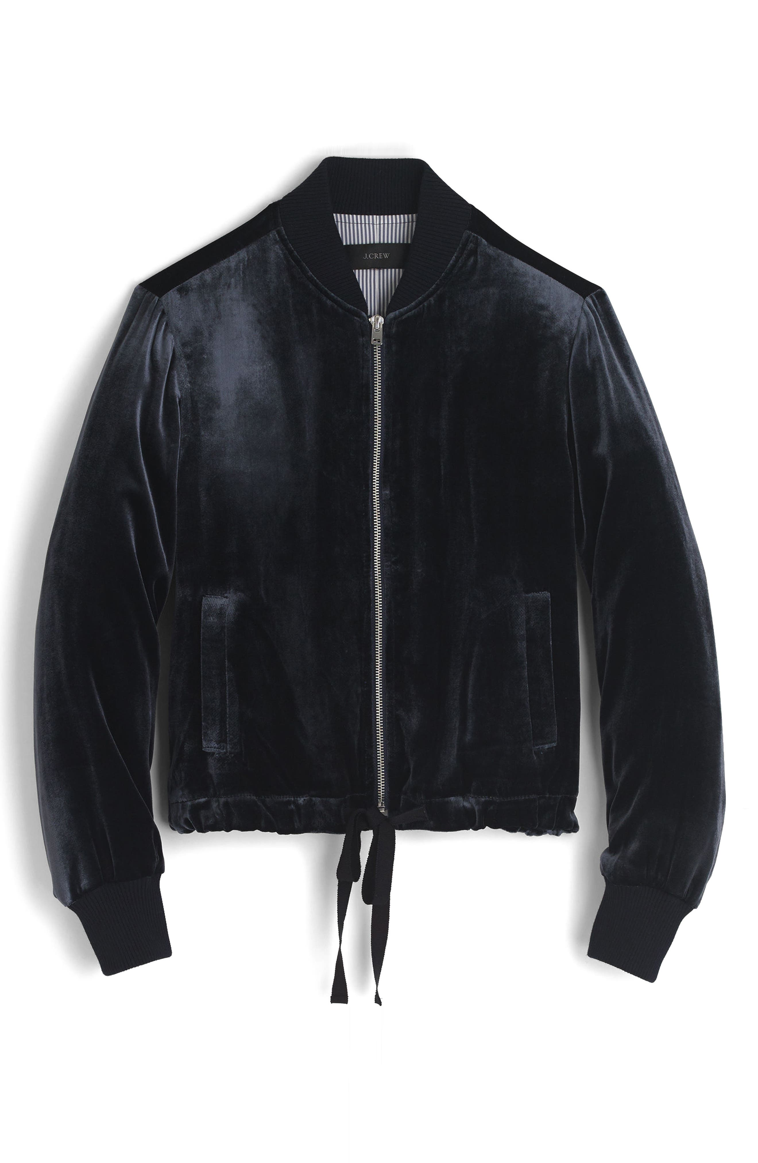 Alternate Image 4  - J.Crew Velvet Bomber Jacket