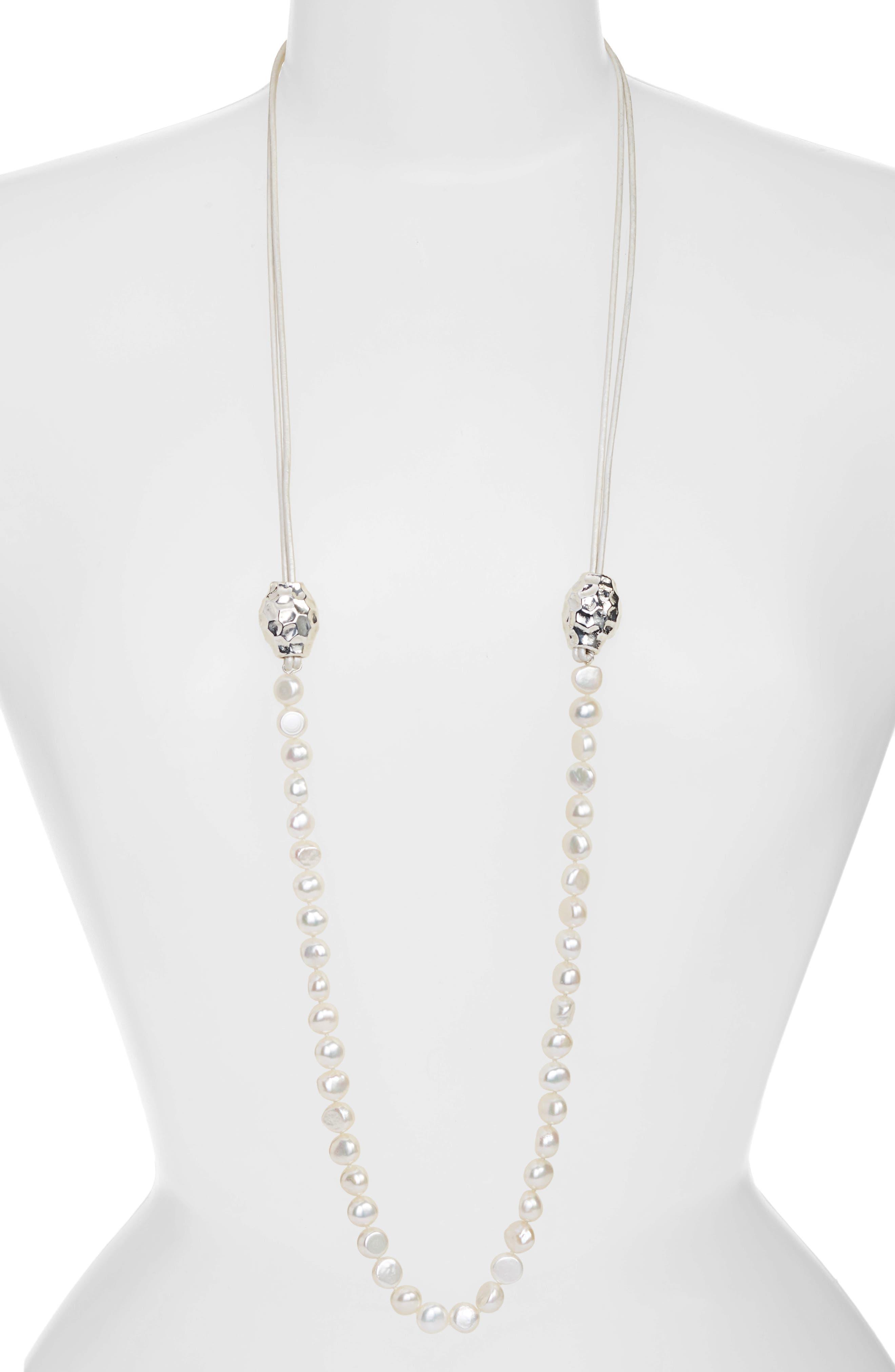 Main Image - Simon Sebbag Beaded Leather Necklace
