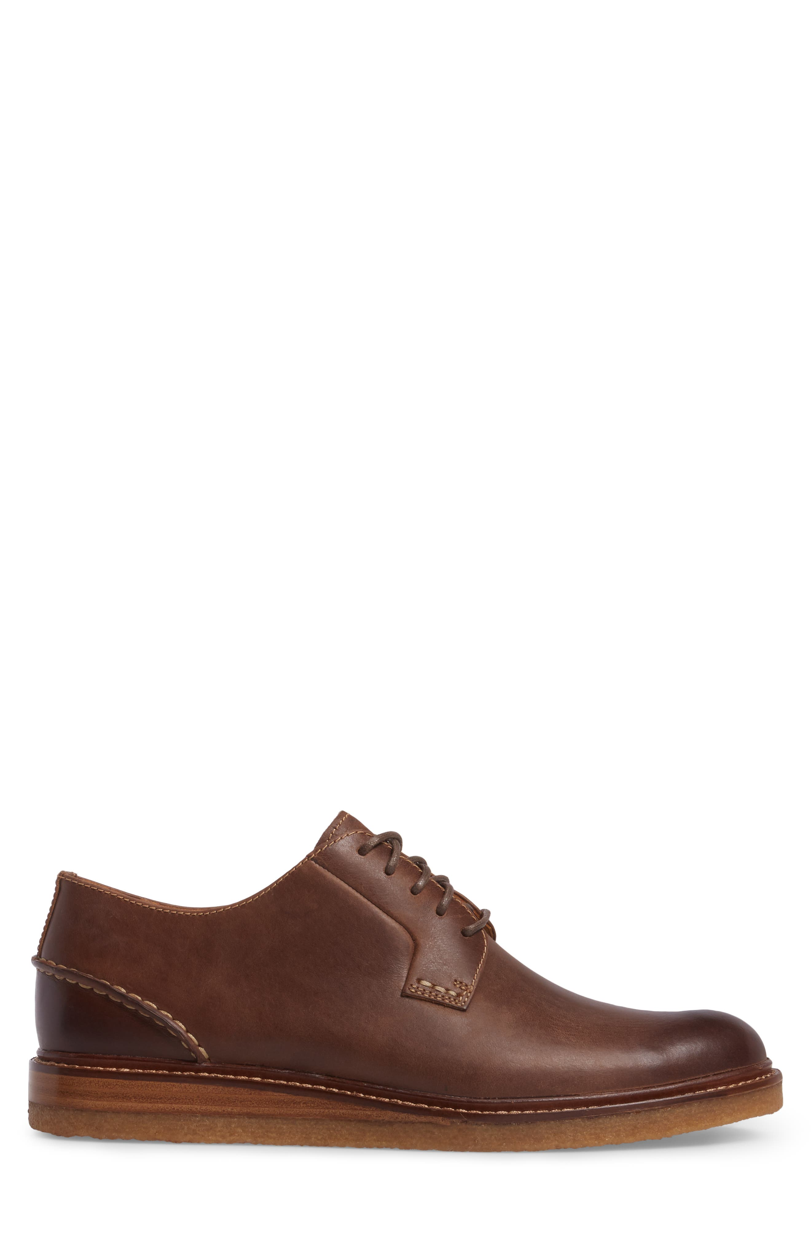 Gold Cup Plain Toe Derby,                             Alternate thumbnail 3, color,                             Brown Leather