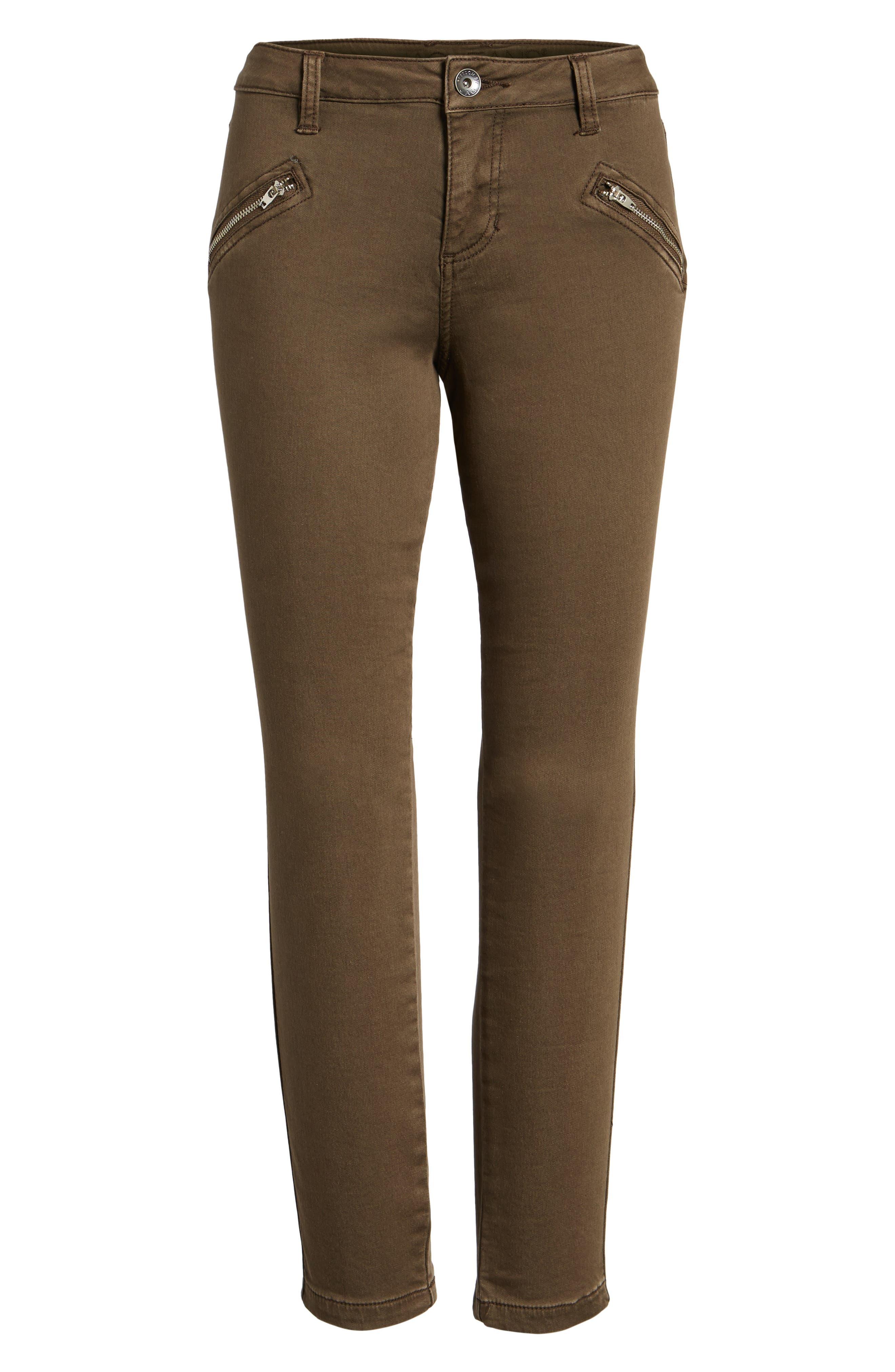 Ryan Knit Skinny Jeans,                             Alternate thumbnail 6, color,                             Saddle