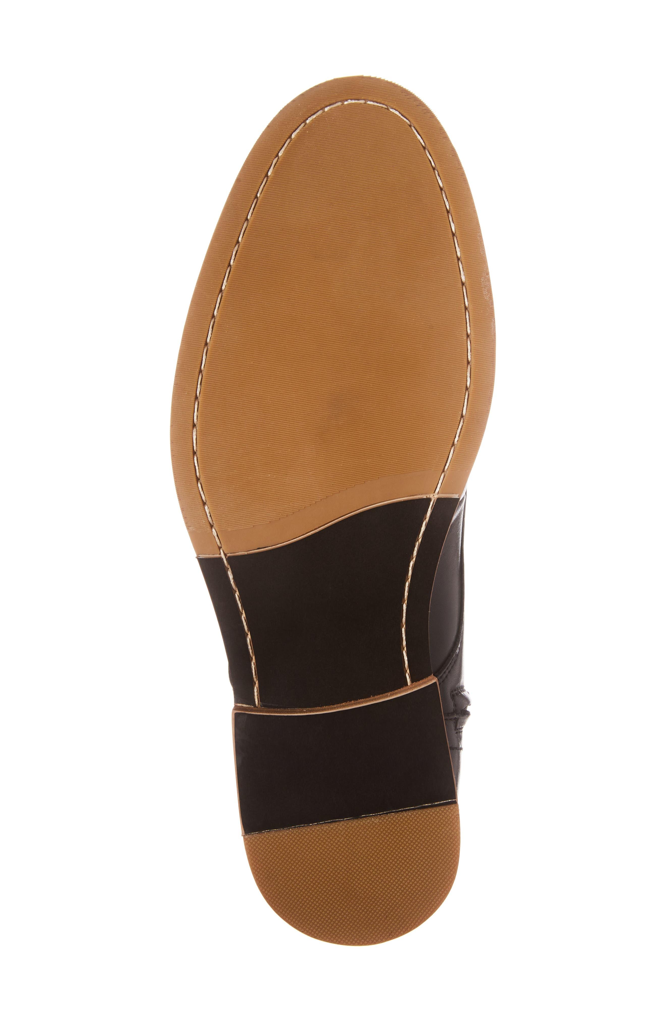 Albany Plain Toe Boot,                             Alternate thumbnail 6, color,                             Black Leather