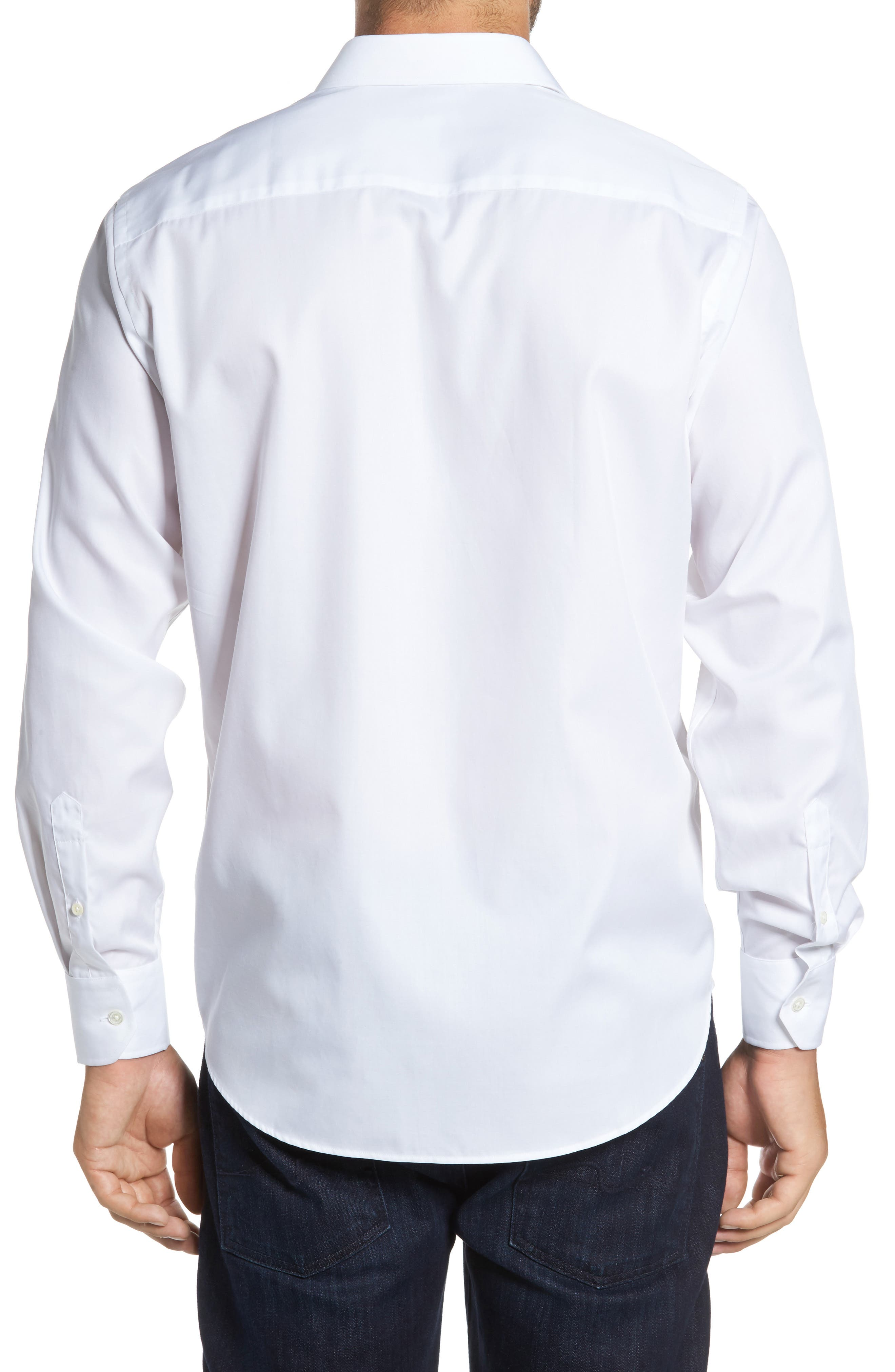 Classic Fit Sport Shirt,                             Alternate thumbnail 2, color,                             White