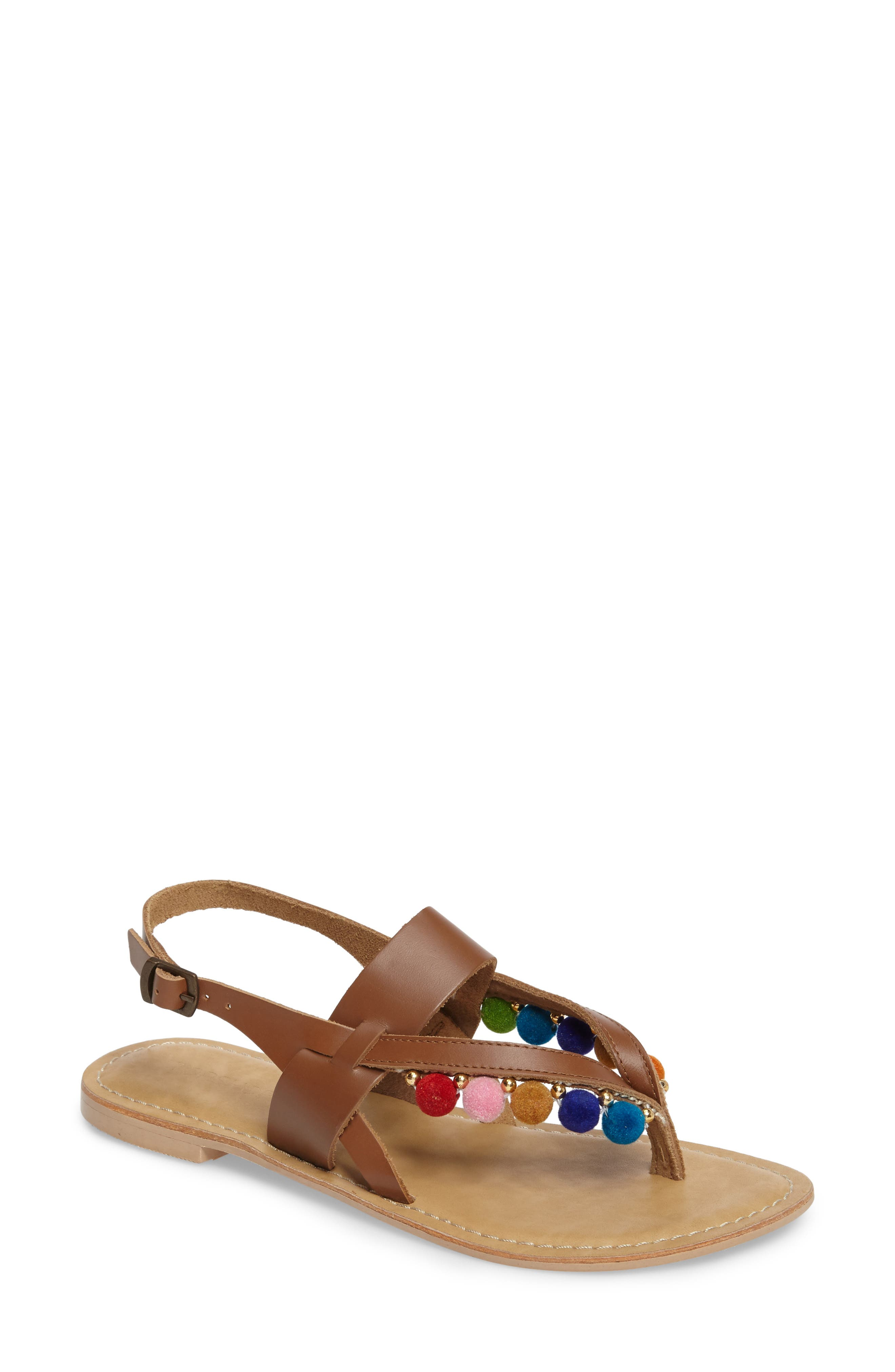 Topshop Hippie Pompom Sandal (Women)