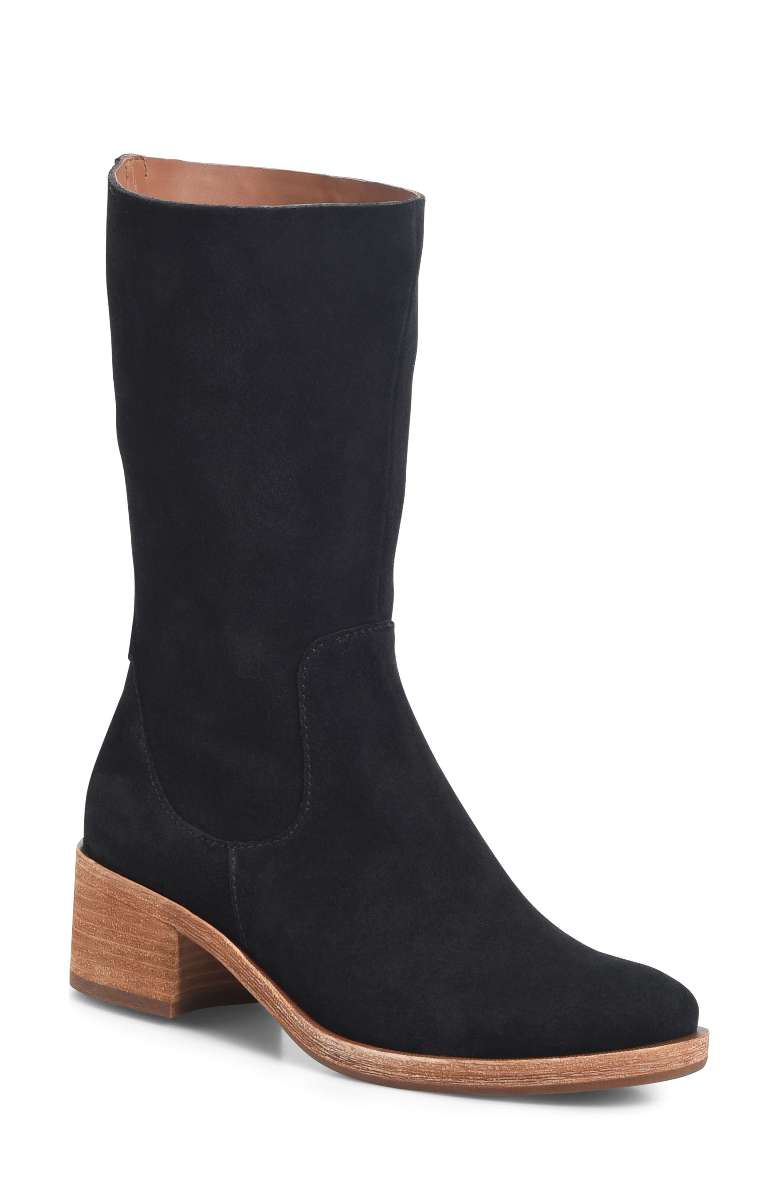 Mercia Boot,                             Main thumbnail 1, color,                             Black Suede