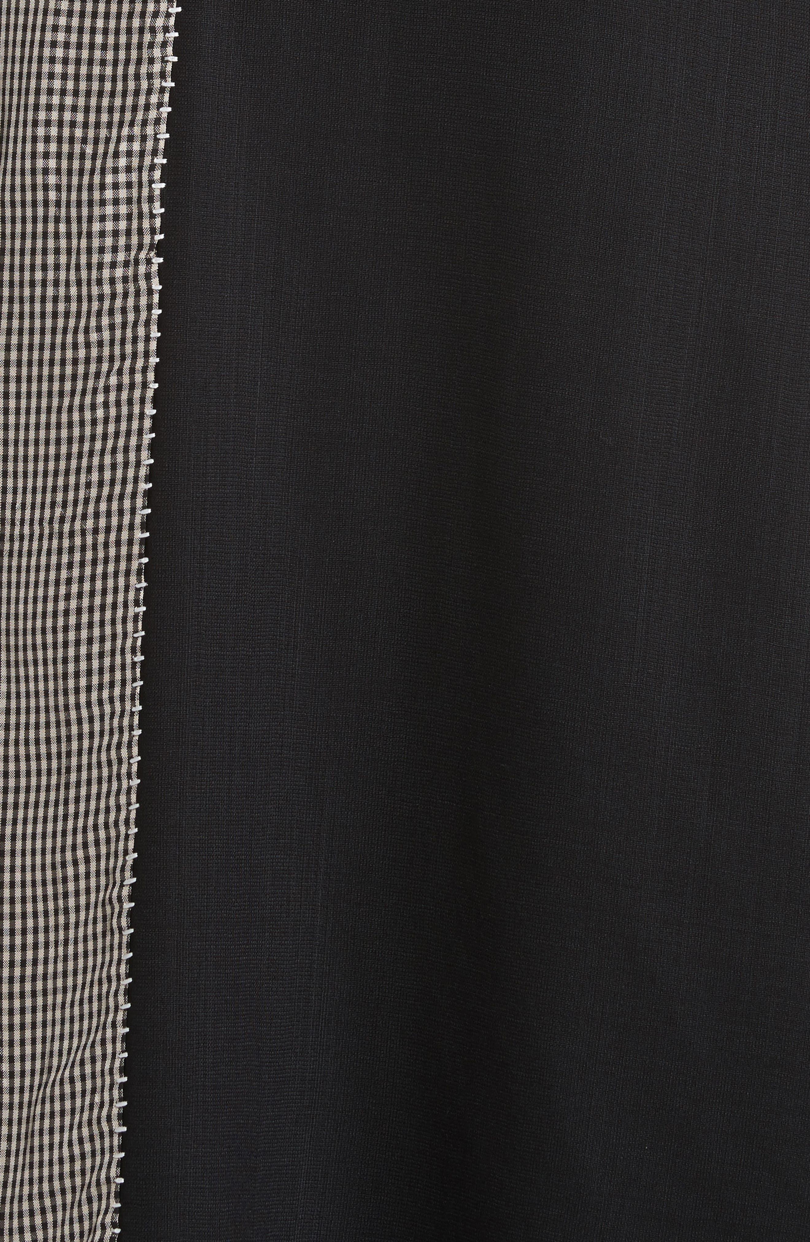 Dragica Mixed Media Dress,                             Alternate thumbnail 6, color,                             Black