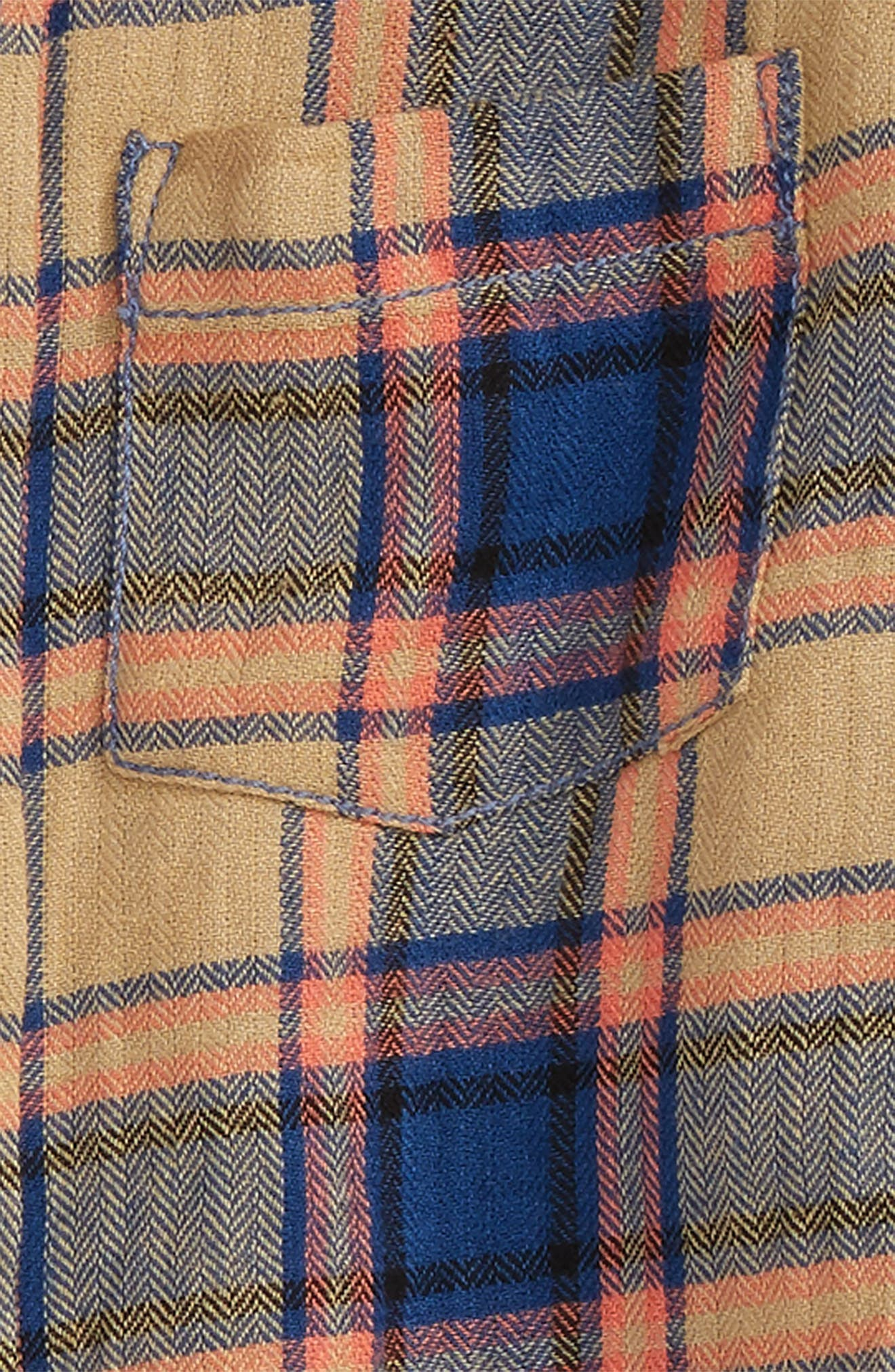 Henry Plaid Woven Shirt,                             Alternate thumbnail 2, color,                             Khaki