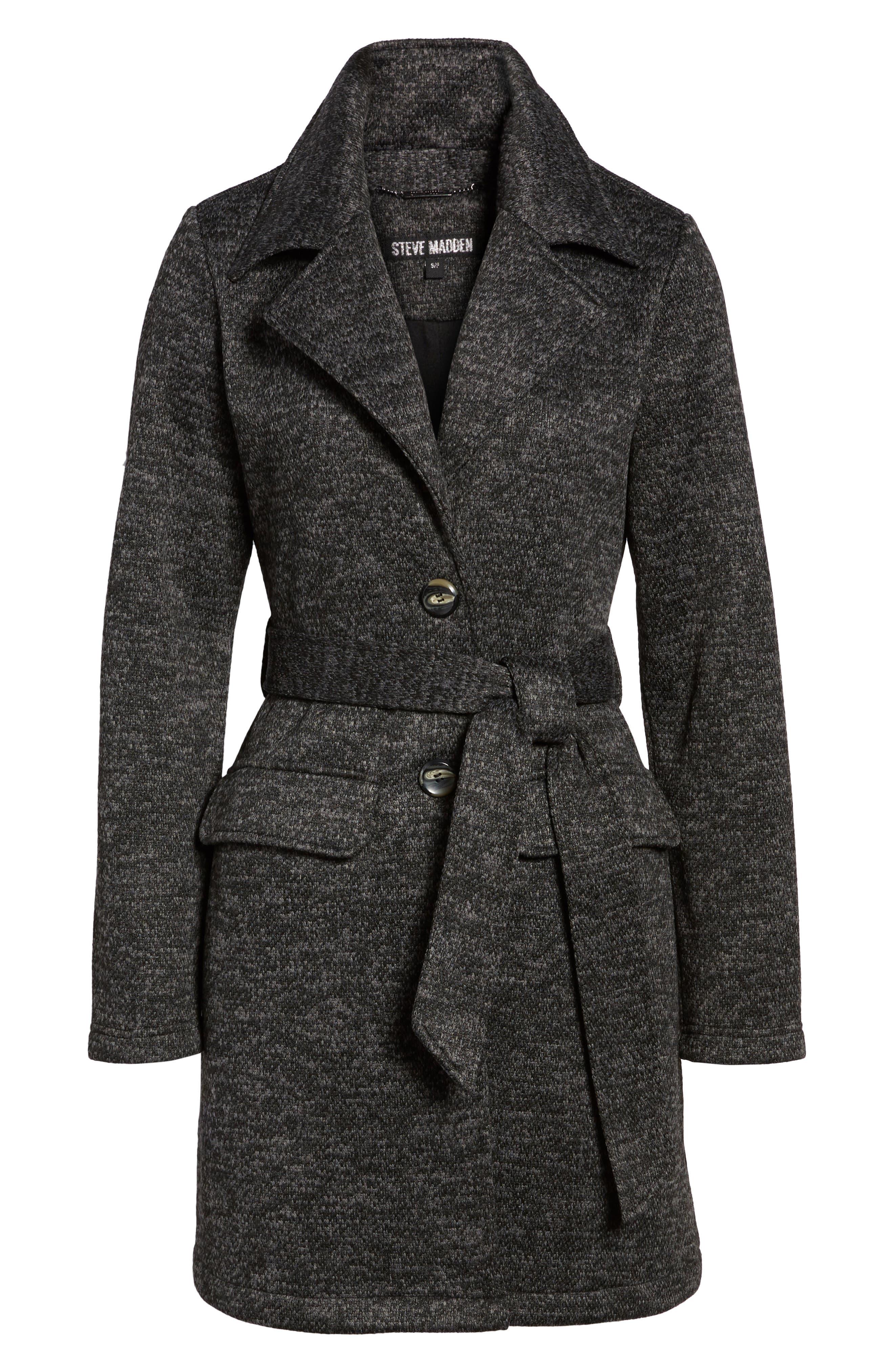 Alternate Image 6  - Steve Madden Belted Fleece Jacket
