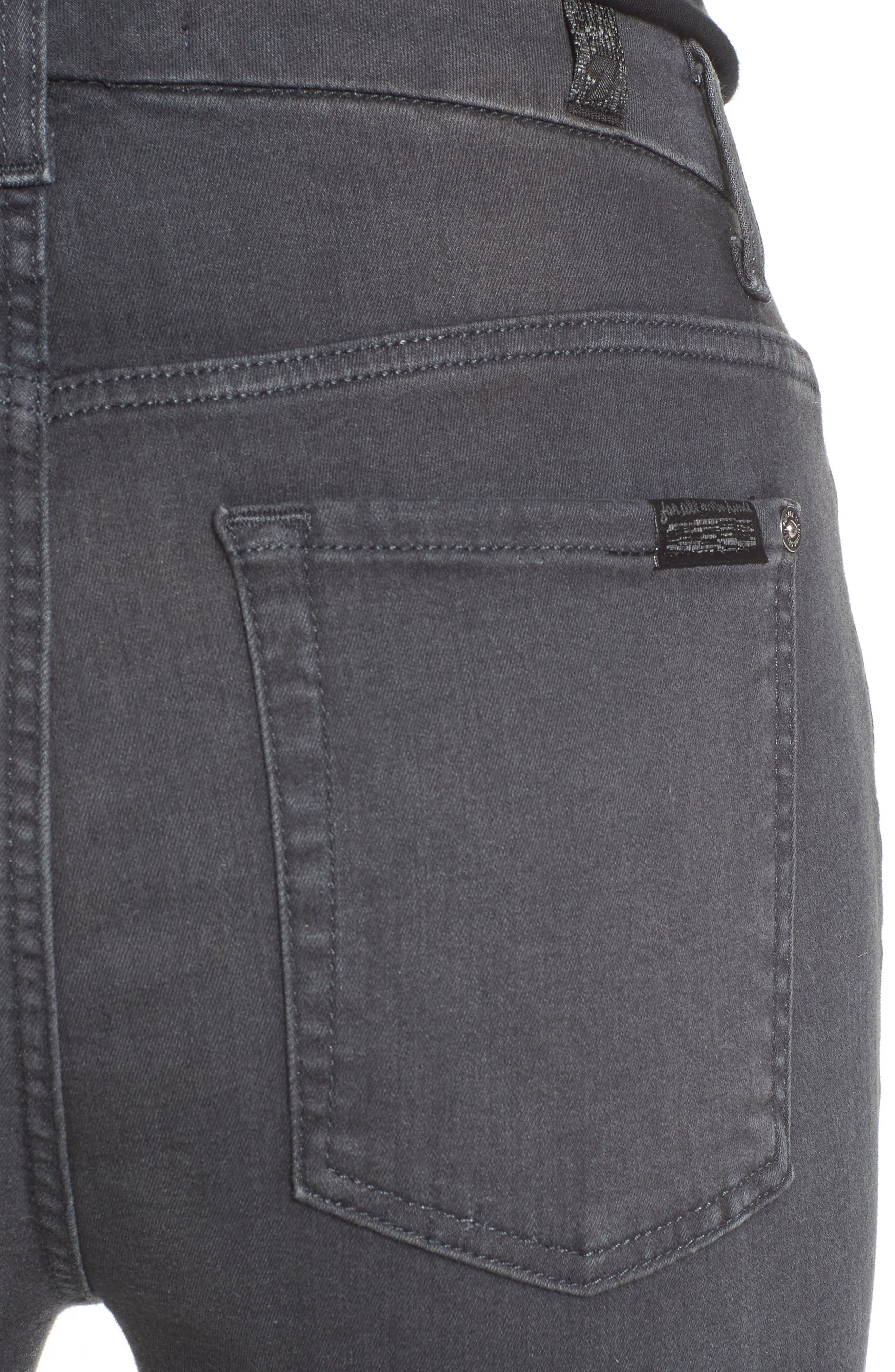 Alternate Image 4  - 7 For All Mankind® b(air) High Waist Skinny Jeans (Smoke)