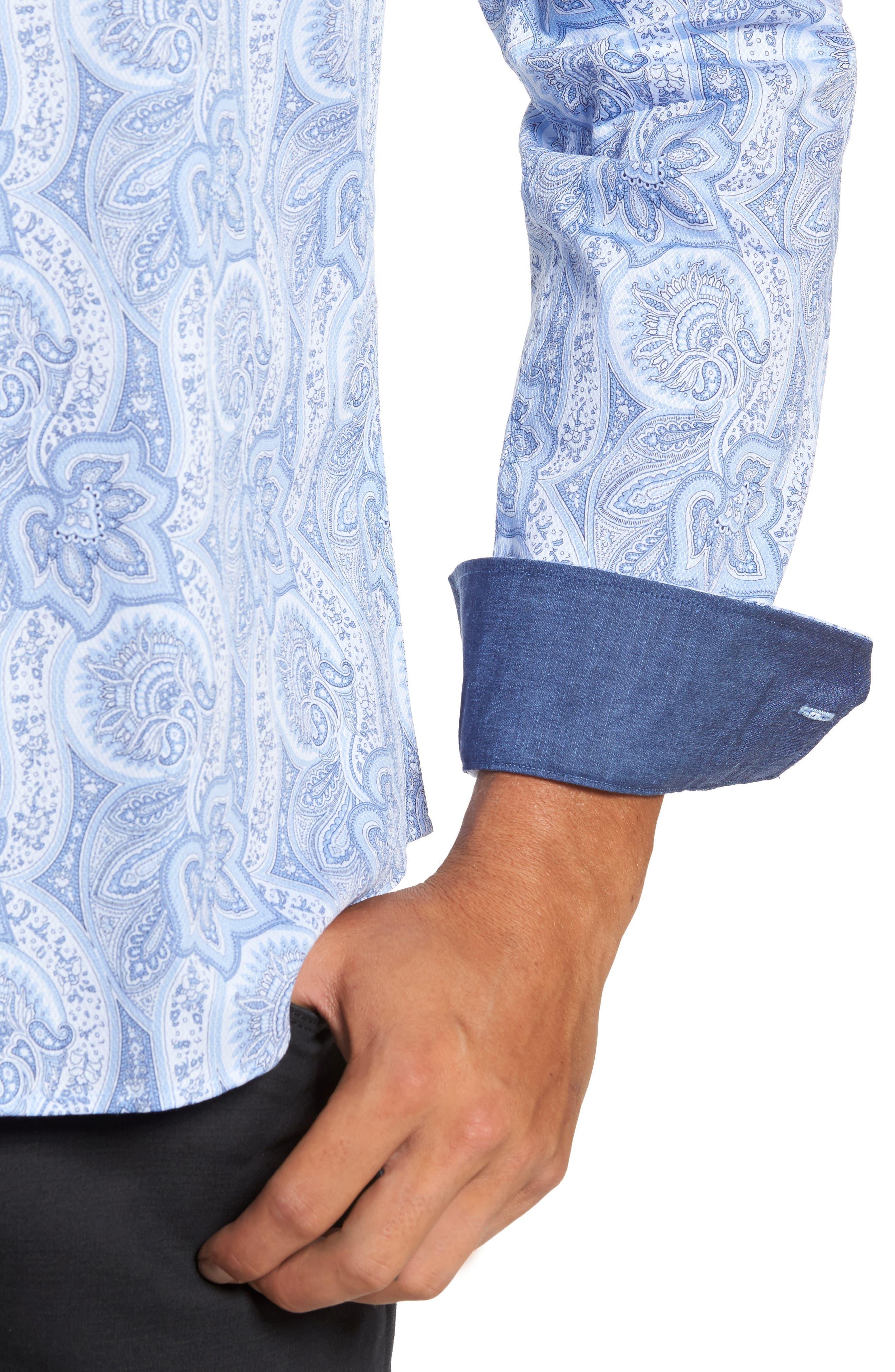 Alternate Image 4  - Bugtachi Shaped Fit Print Sport Shirt