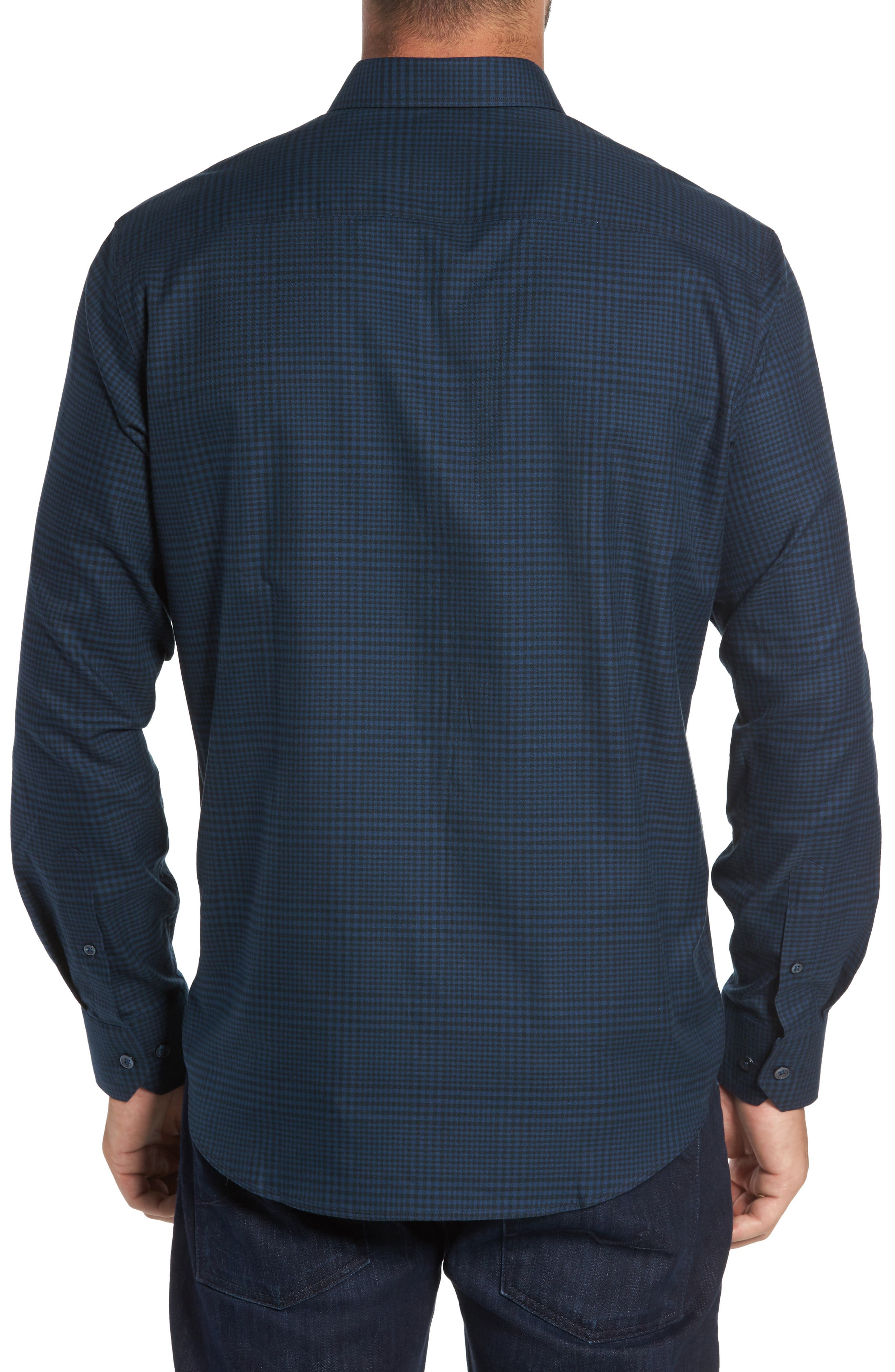 Alternate Image 2  - Bugatchi Classic Fit Glen Plaid Sport Shirt