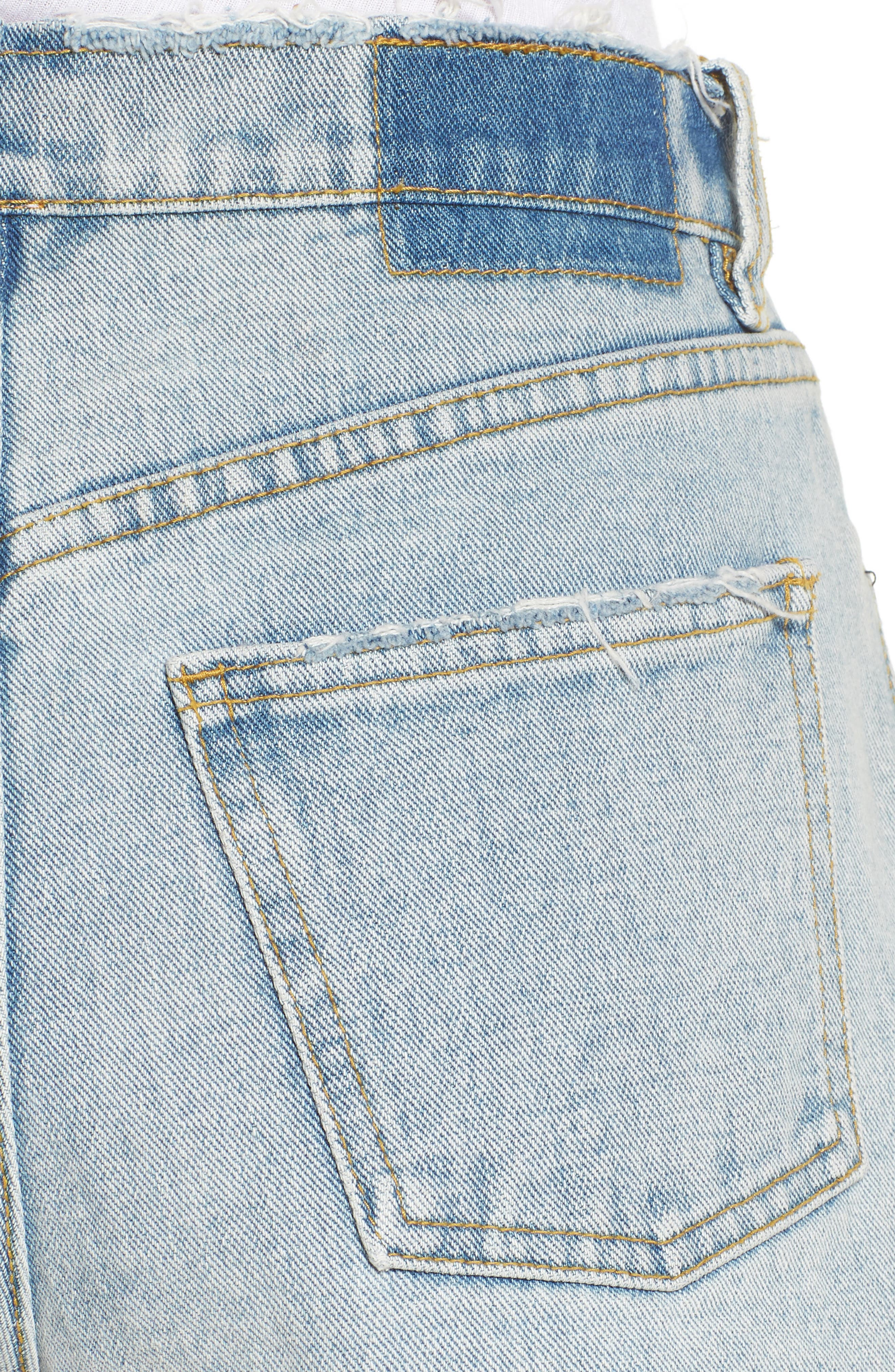 Denim Shorts,                             Alternate thumbnail 4, color,                             Sea Wash