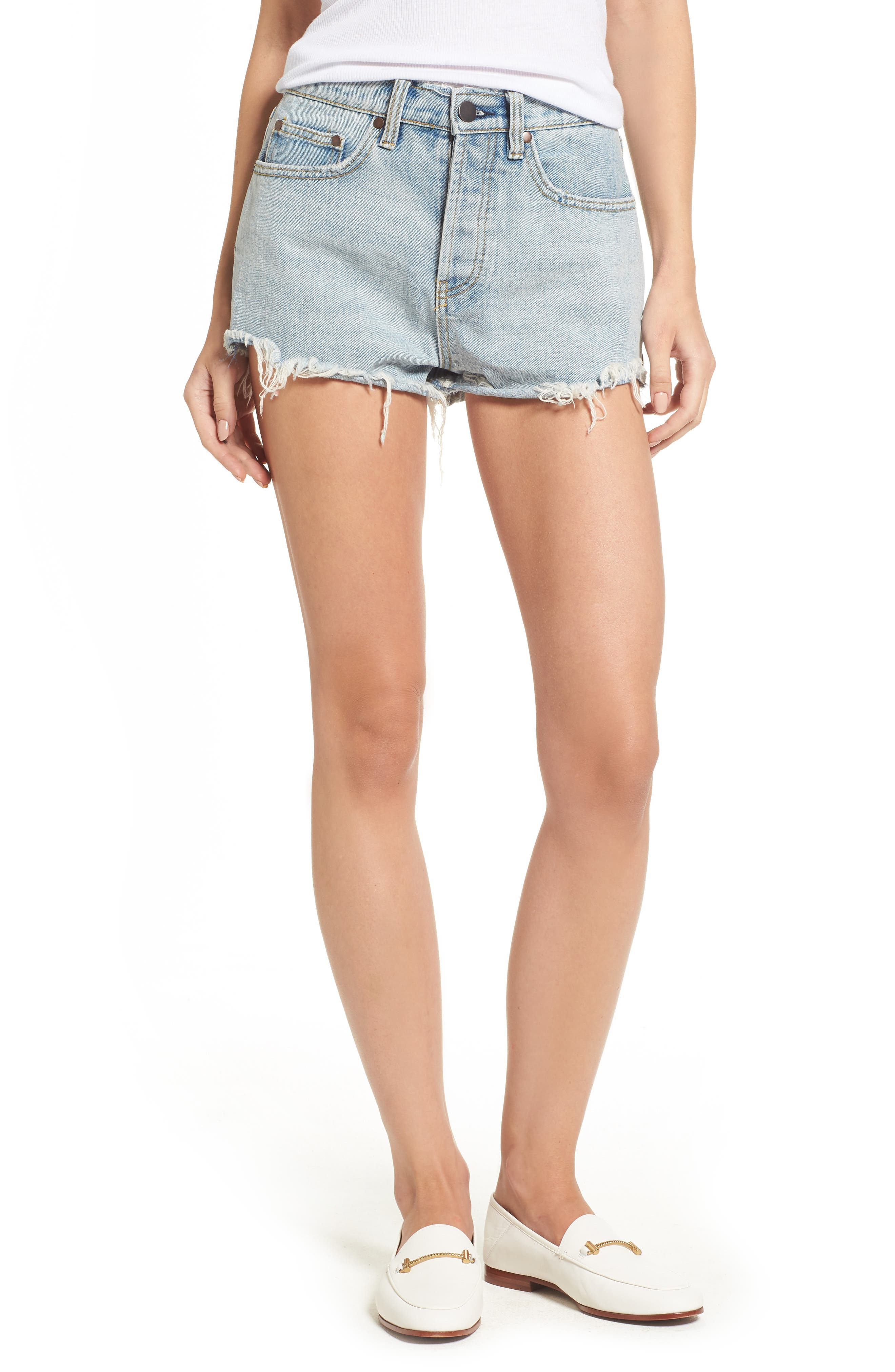 Denim Shorts,                         Main,                         color, Sea Wash
