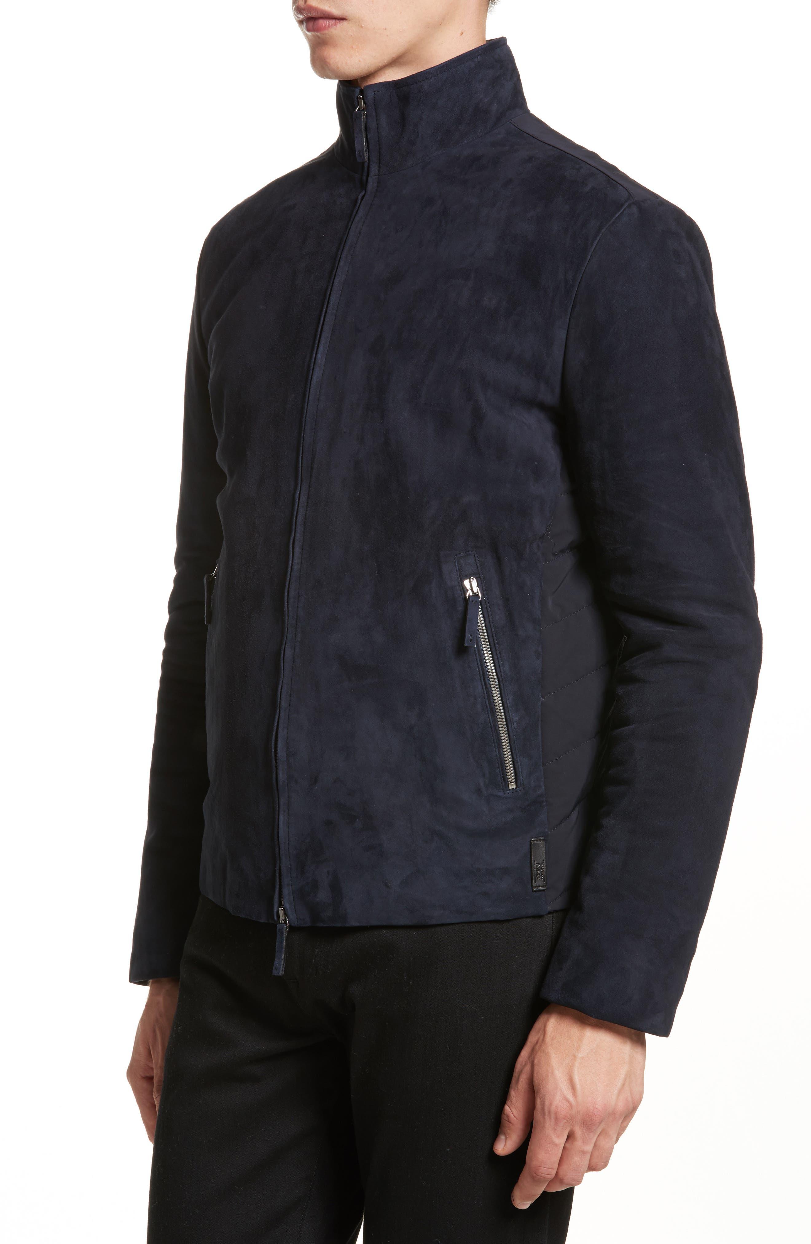 Alternate Image 3  - Armani Collezioni Regular Fit Mixed Media Jacket
