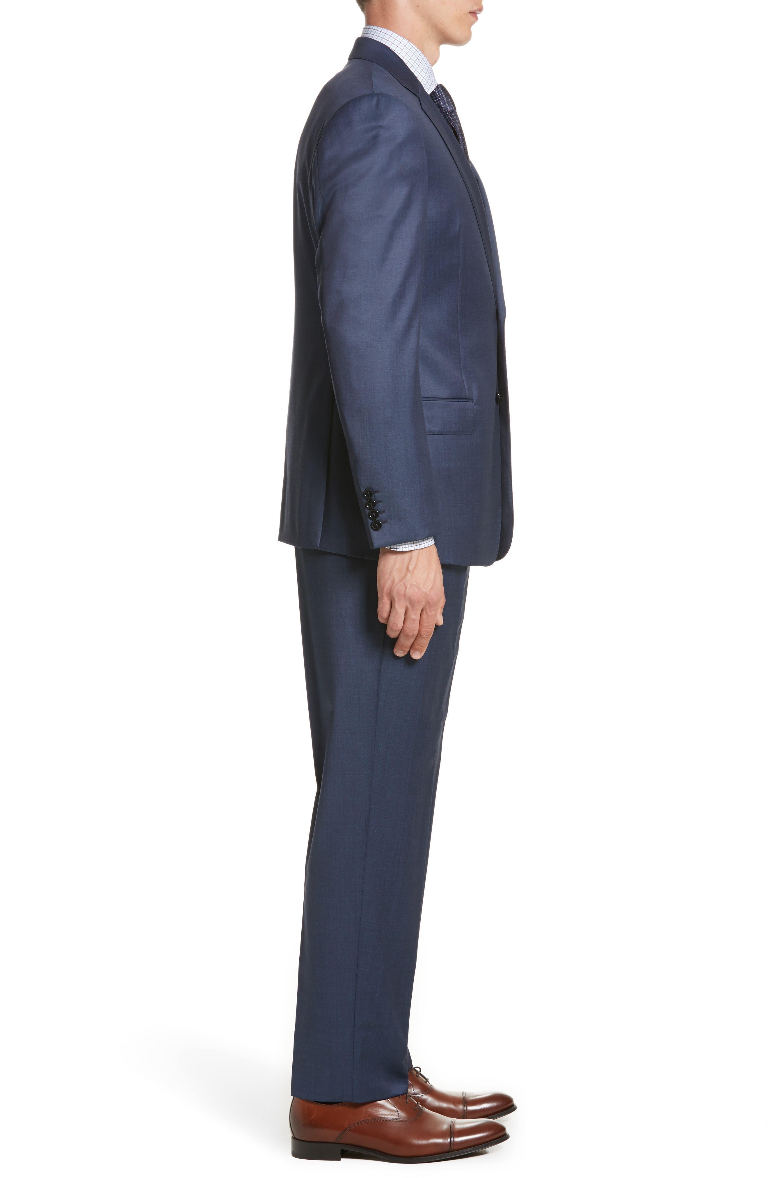 Alternate Image 3  - Armani Collezioni G-Line Trim Fit Plaid Wool Suit
