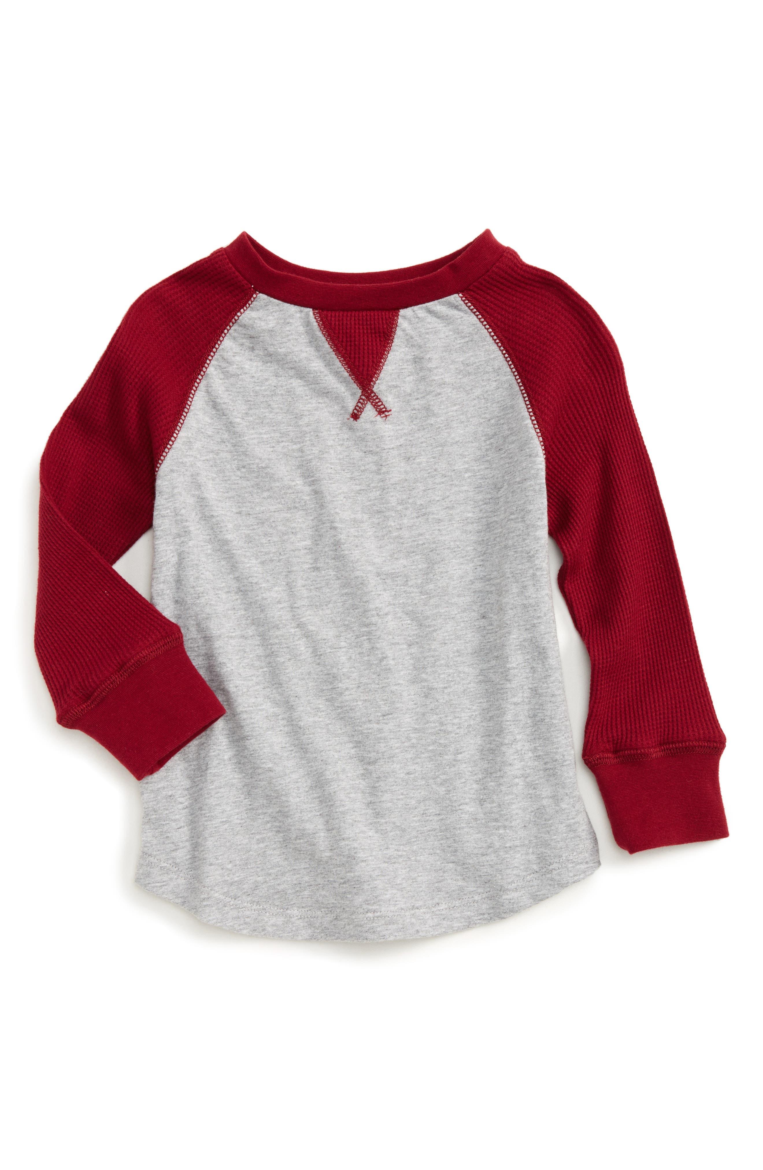 Peek Waffle Knit Raglan T-Shirt (Toddler Boys, Little Boys & Big Boys)