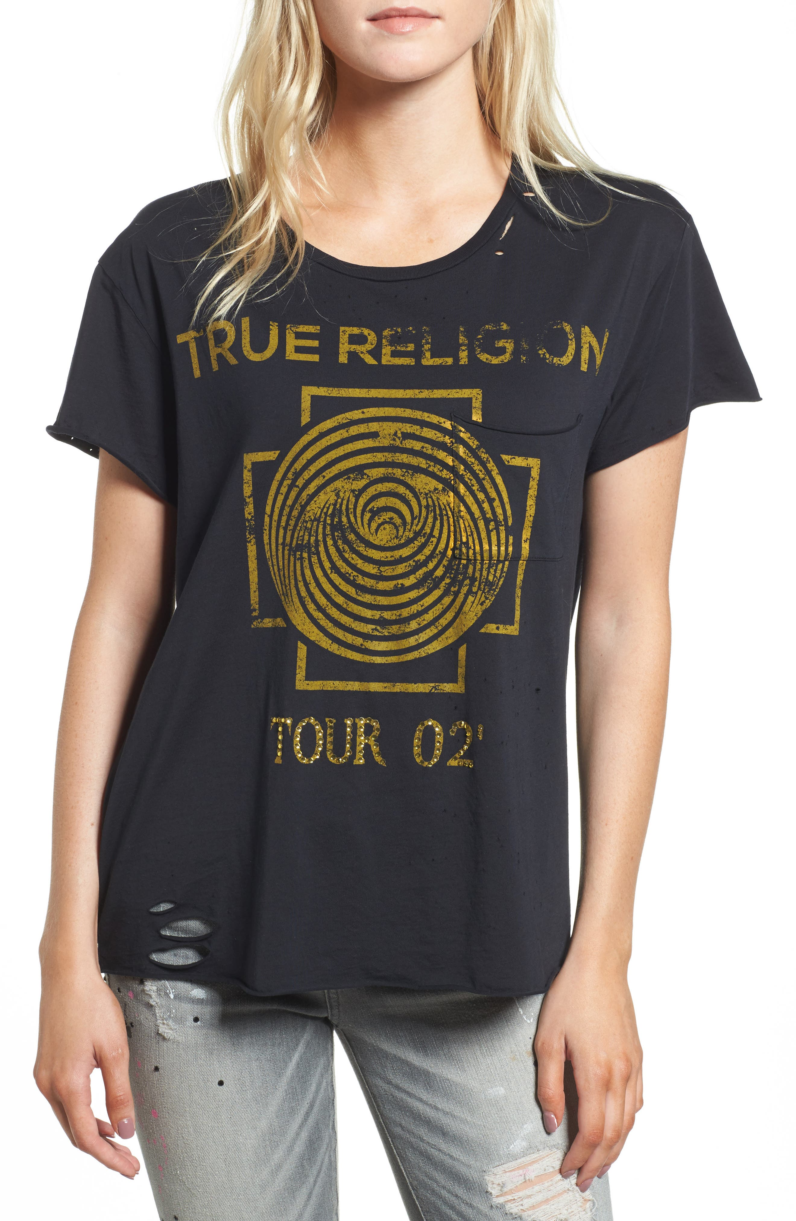 Dizzy Tour Tee,                         Main,                         color, Black