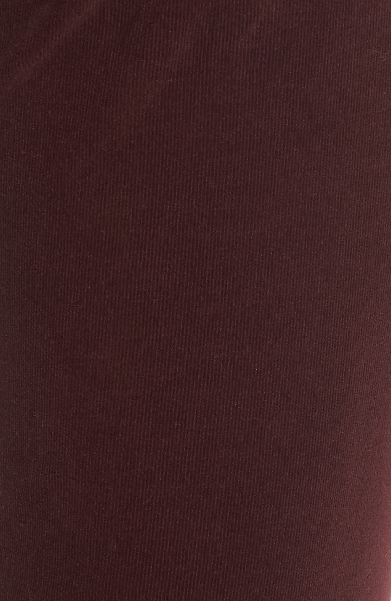 The Legging Super Skinny Corduroy Pants,                             Alternate thumbnail 5, color,                             Deep Currant