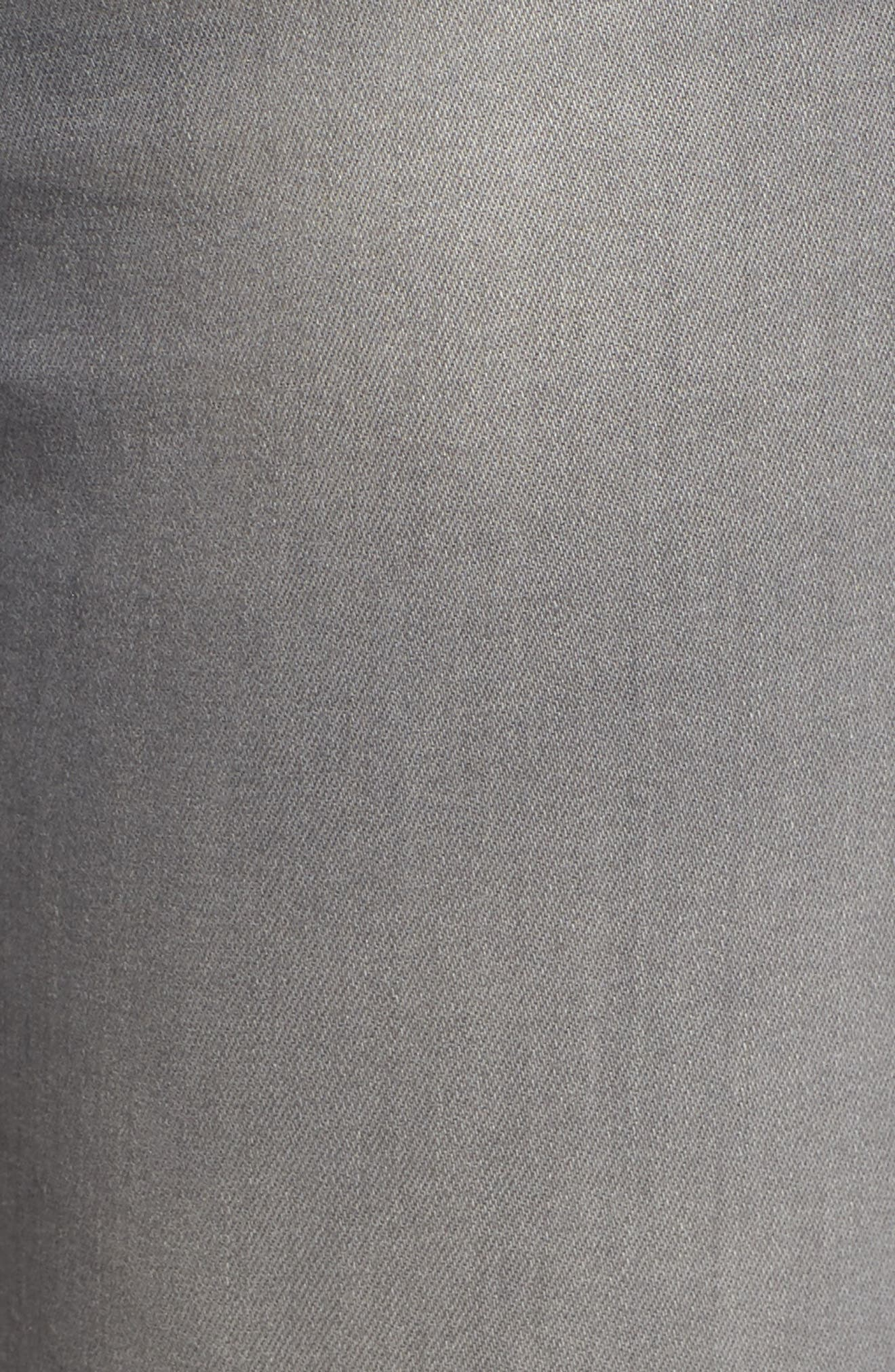 Farrah High Waist Ankle Skinny Jeans,                             Alternate thumbnail 5, color,                             10 Years Grey Shadow
