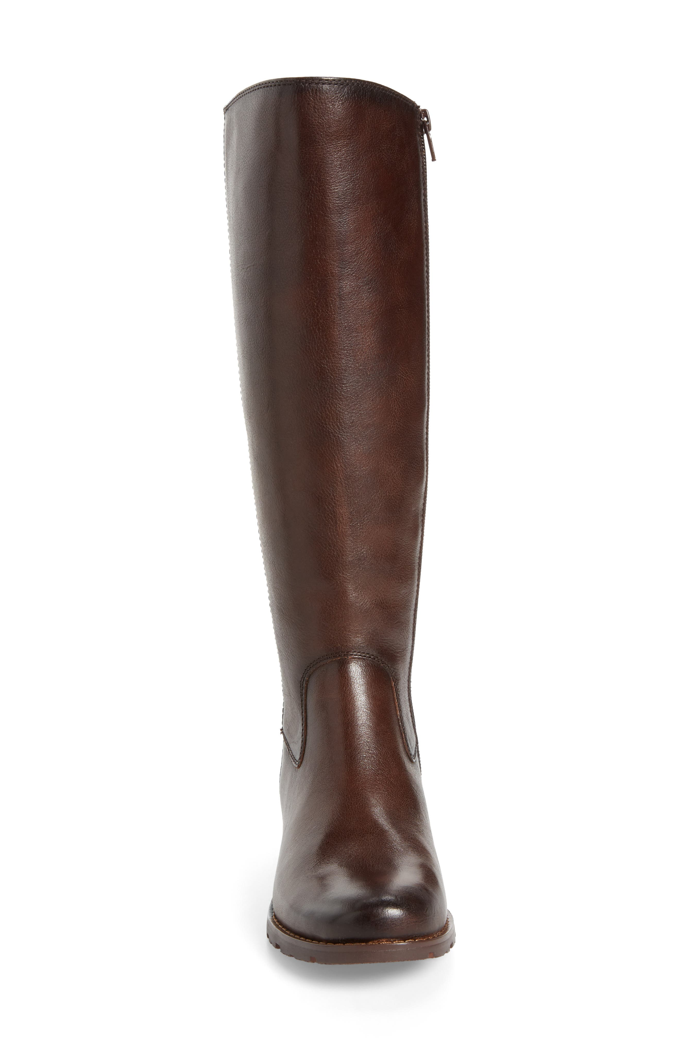 'Sharnell' Riding Boot,                             Alternate thumbnail 4, color,                             Aztec Brown Leather