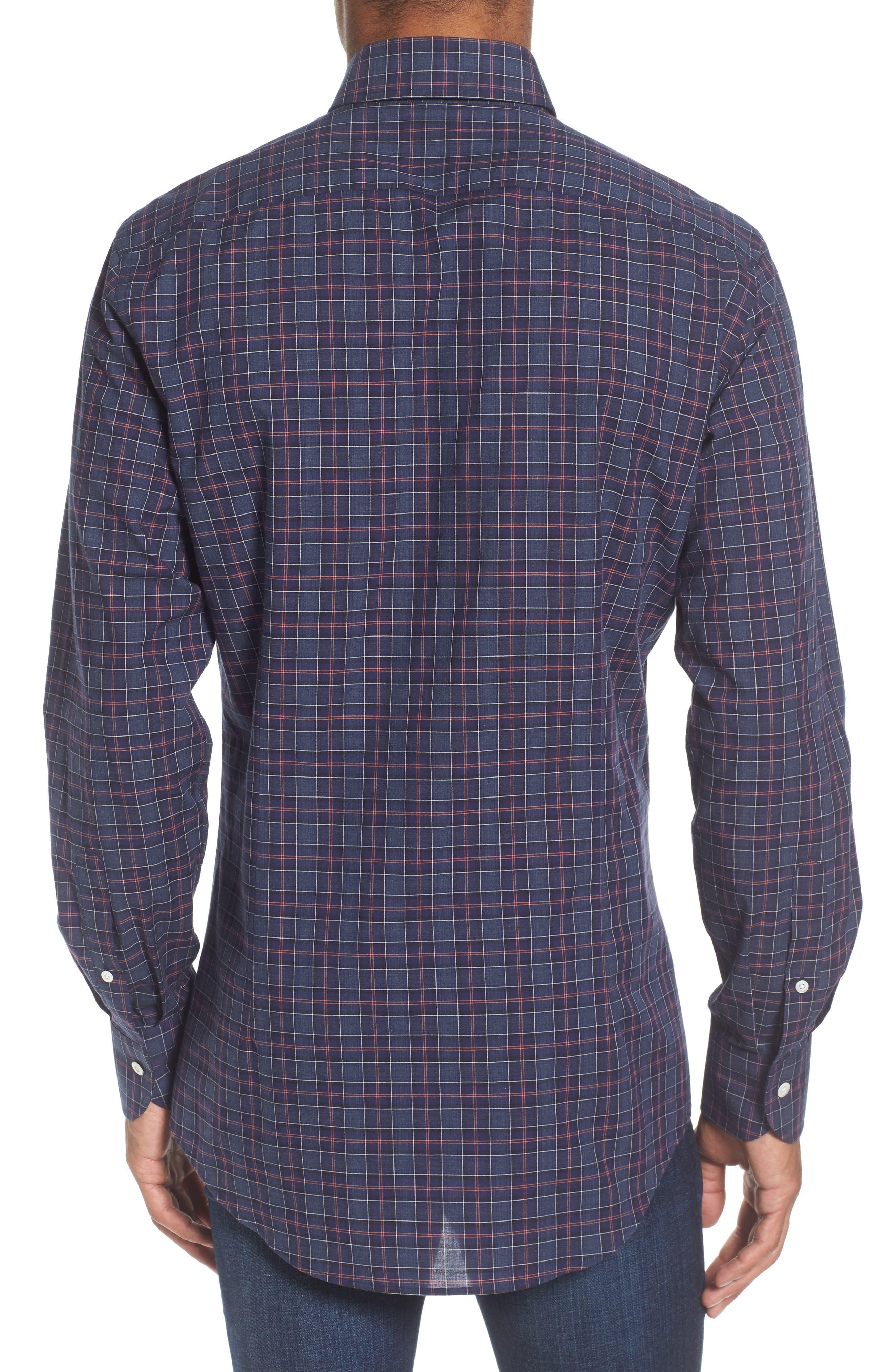 Alternate Image 2  - Ledbury Slim Fit Plaid Sport Shirt
