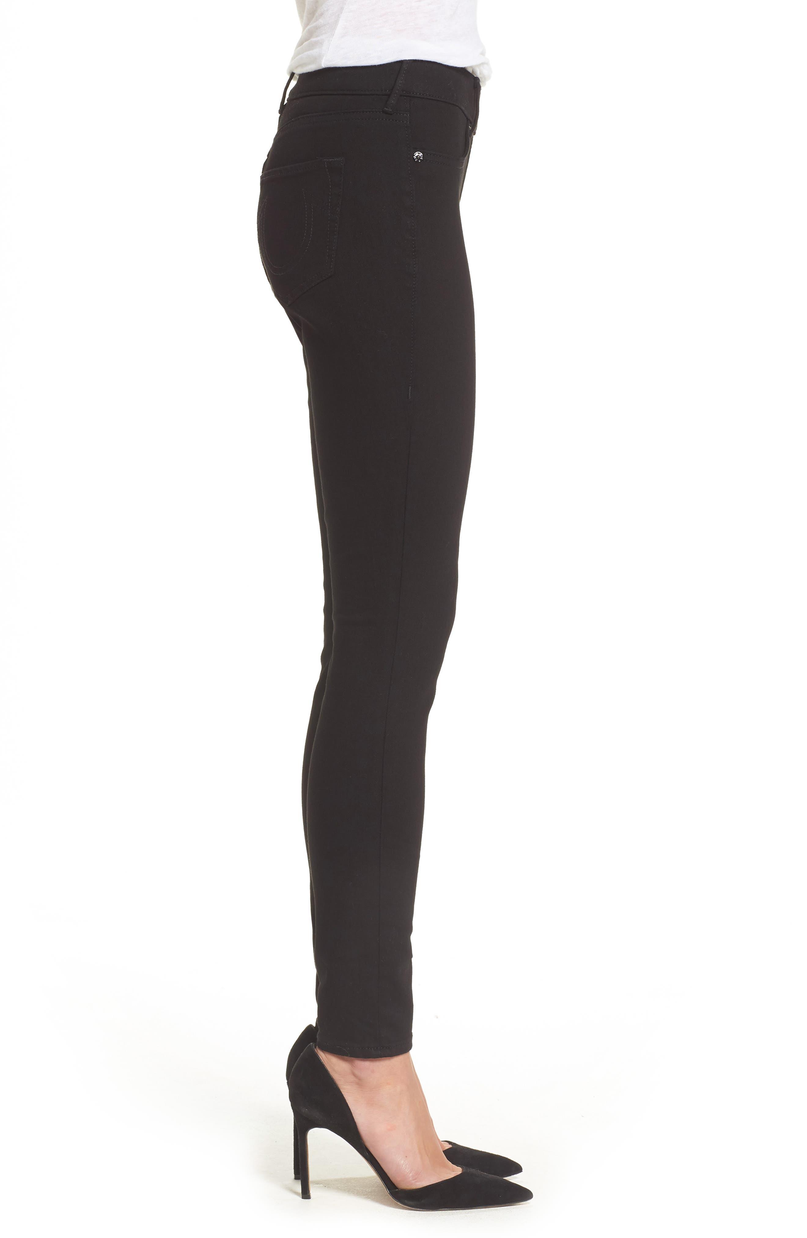 Alternate Image 3  - True Religion Brand Jeans Jennie Curvy Runway Leggings (Body Rinse Black)