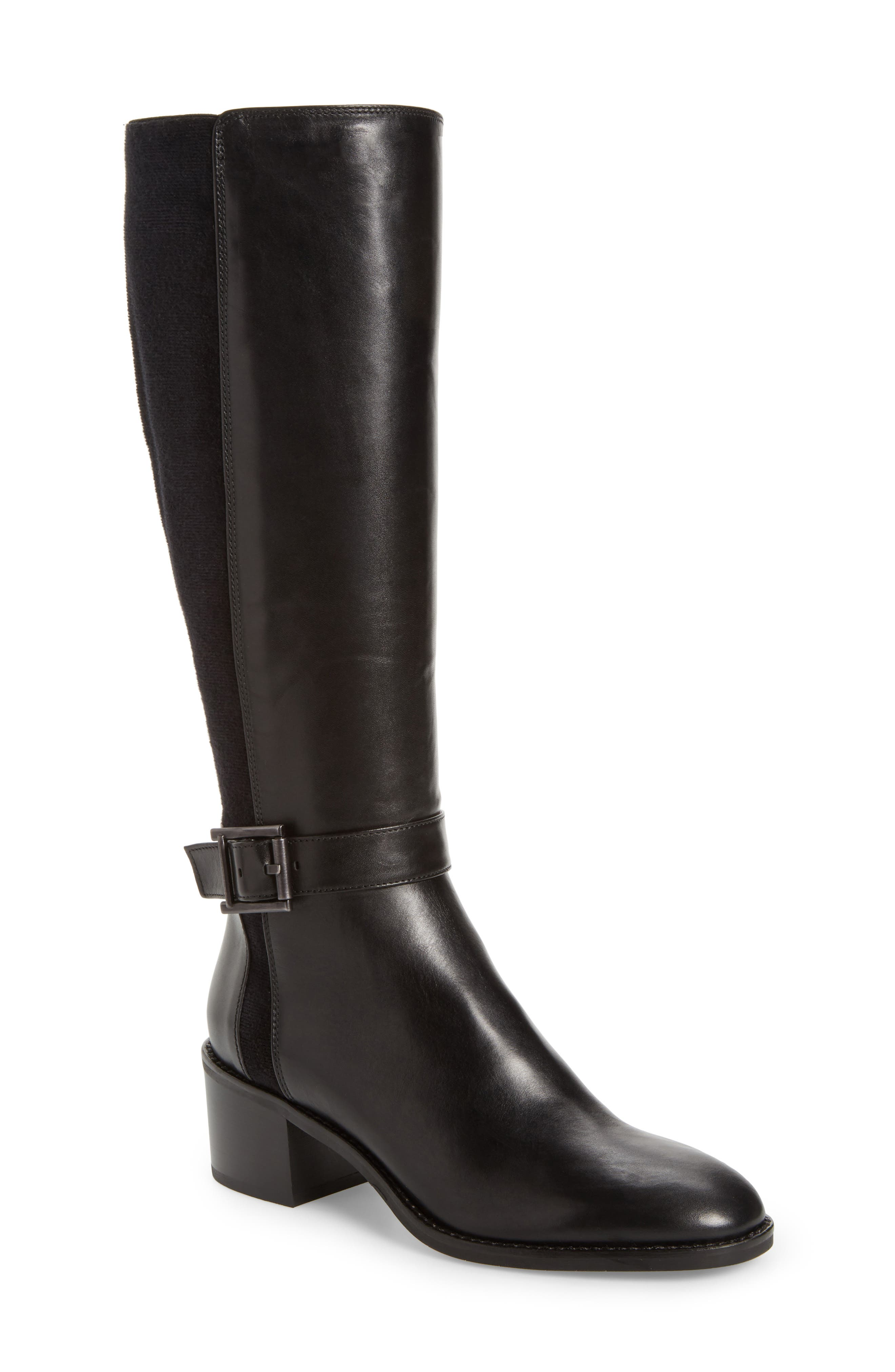 Joanna Weatherproof Tall Boot,                             Main thumbnail 1, color,                             Black
