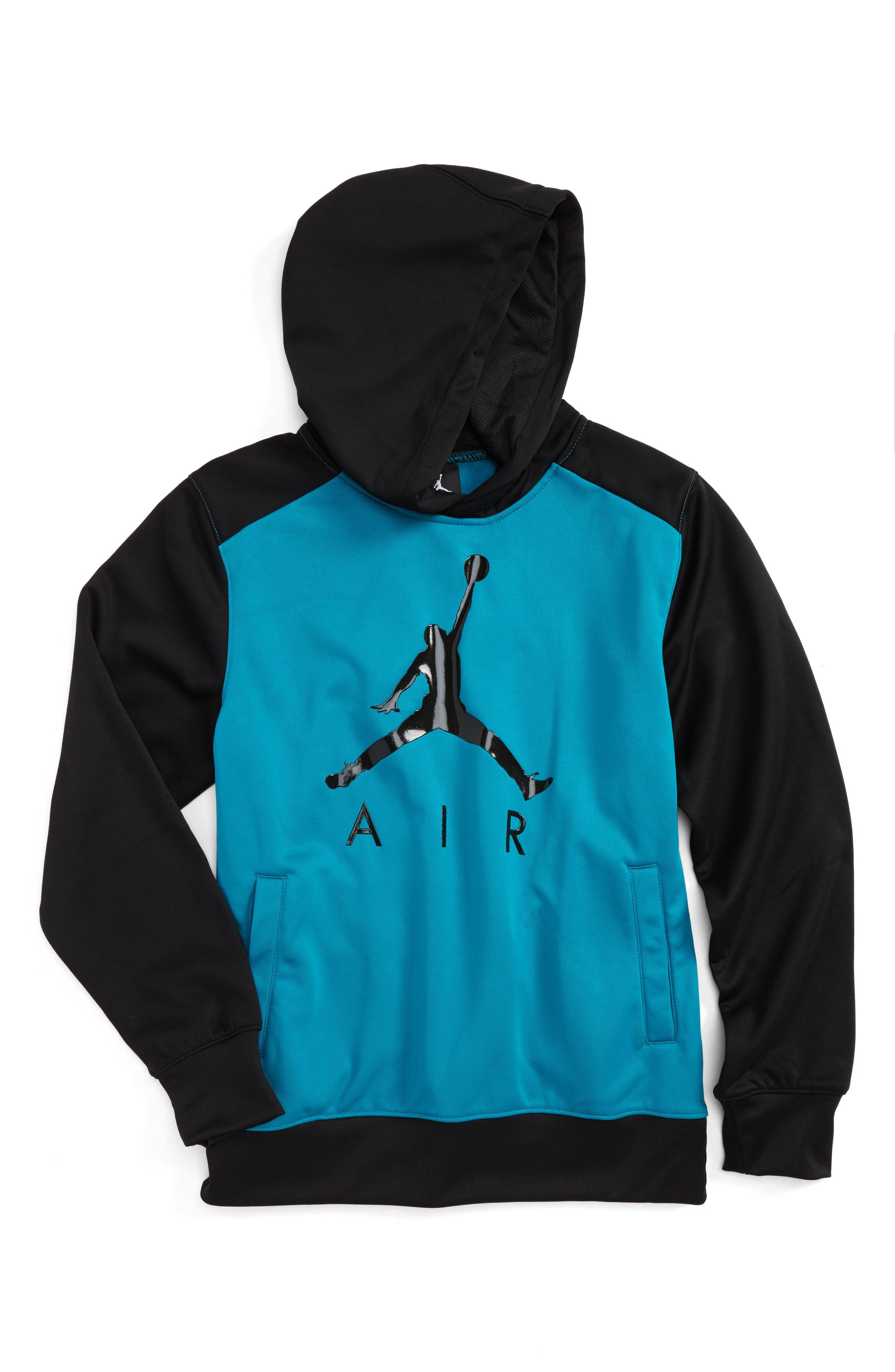 Jordan Flight Air Therma-FIT Hoodie,                         Main,                         color, Blustery