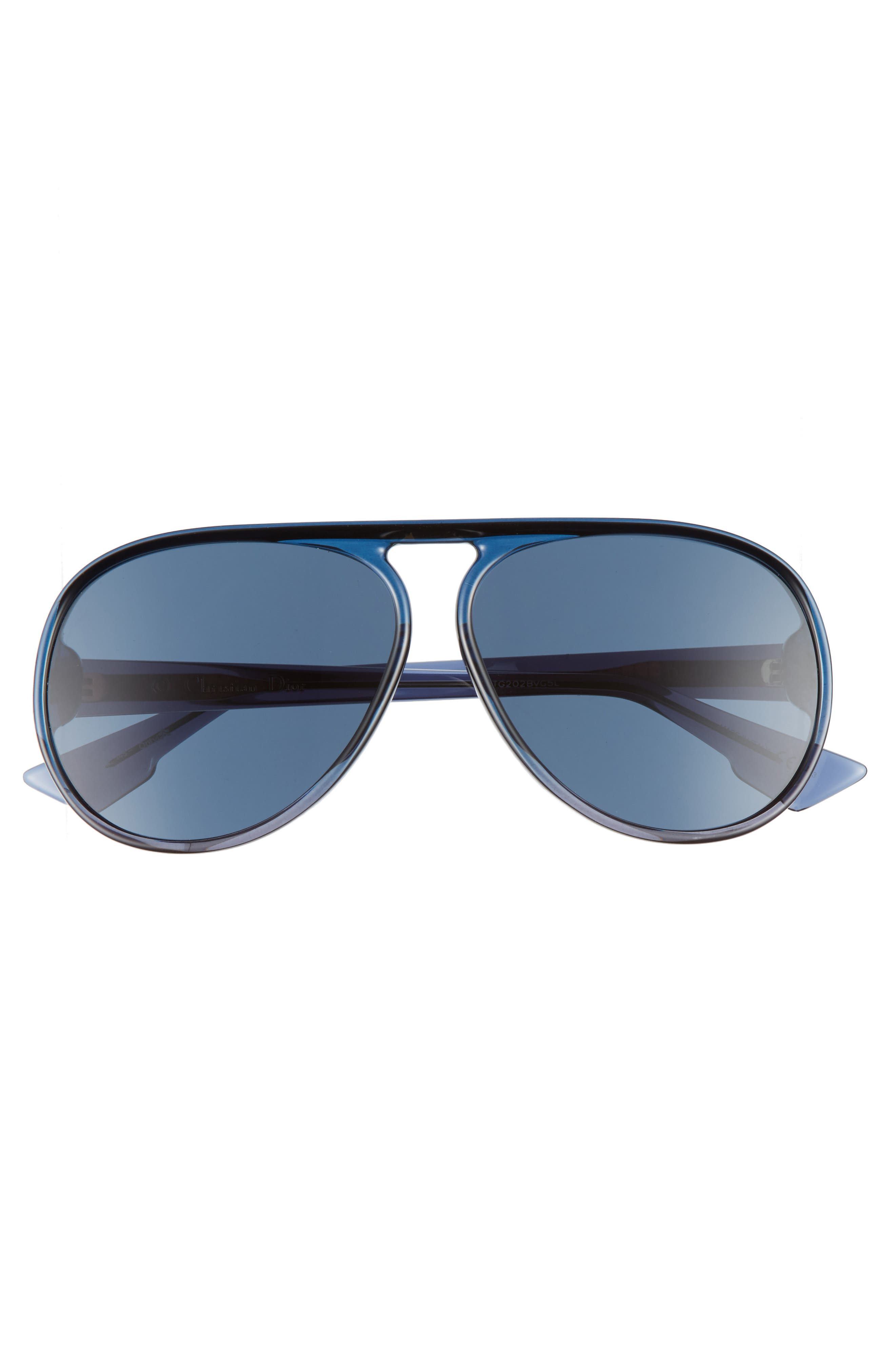 Alternate Image 2  - Dior Lia 62mm Oversize Aviator Sunglasses