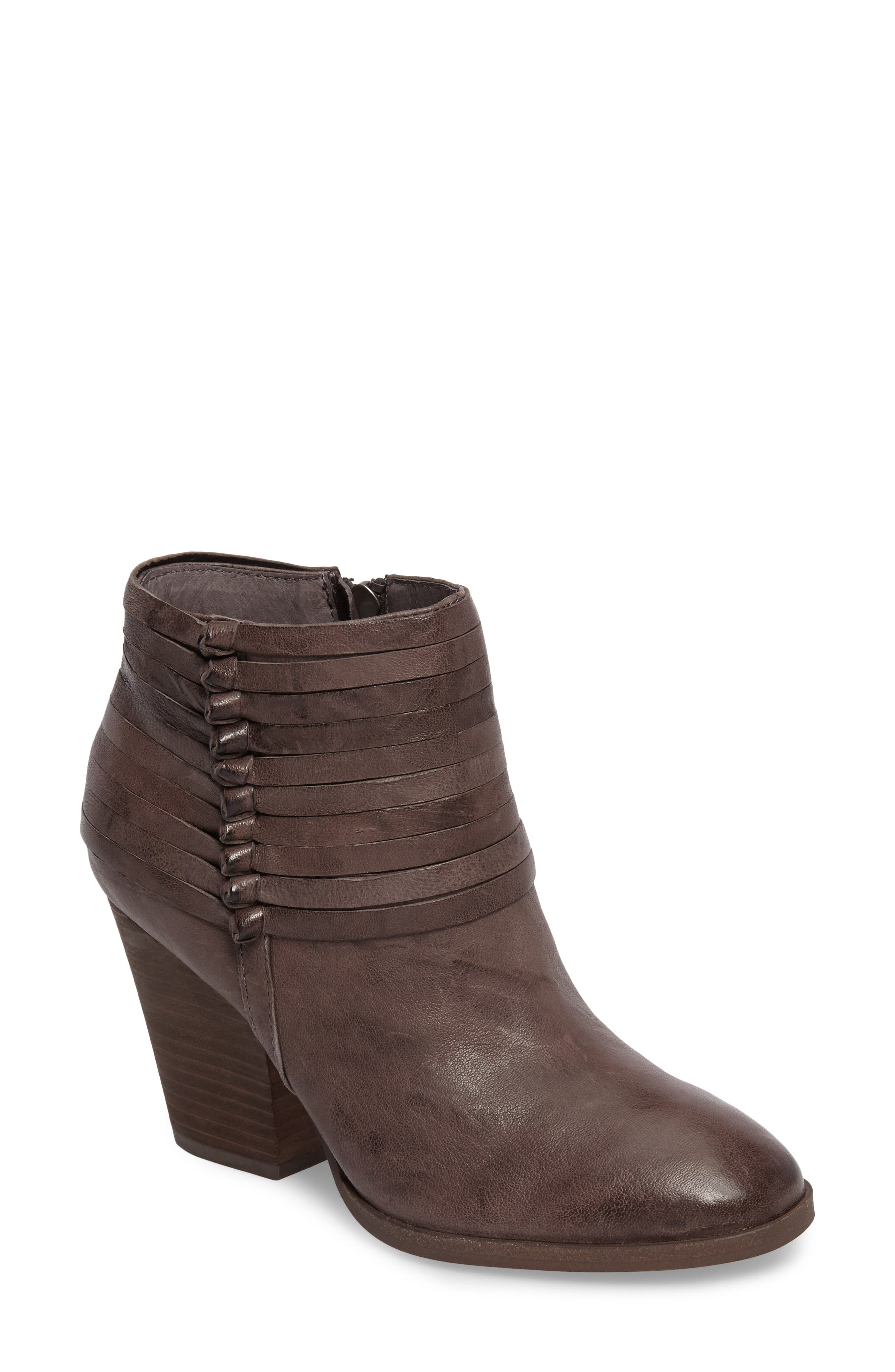 Lander Strappy Bootie,                         Main,                         color, Cemento Grey Leather