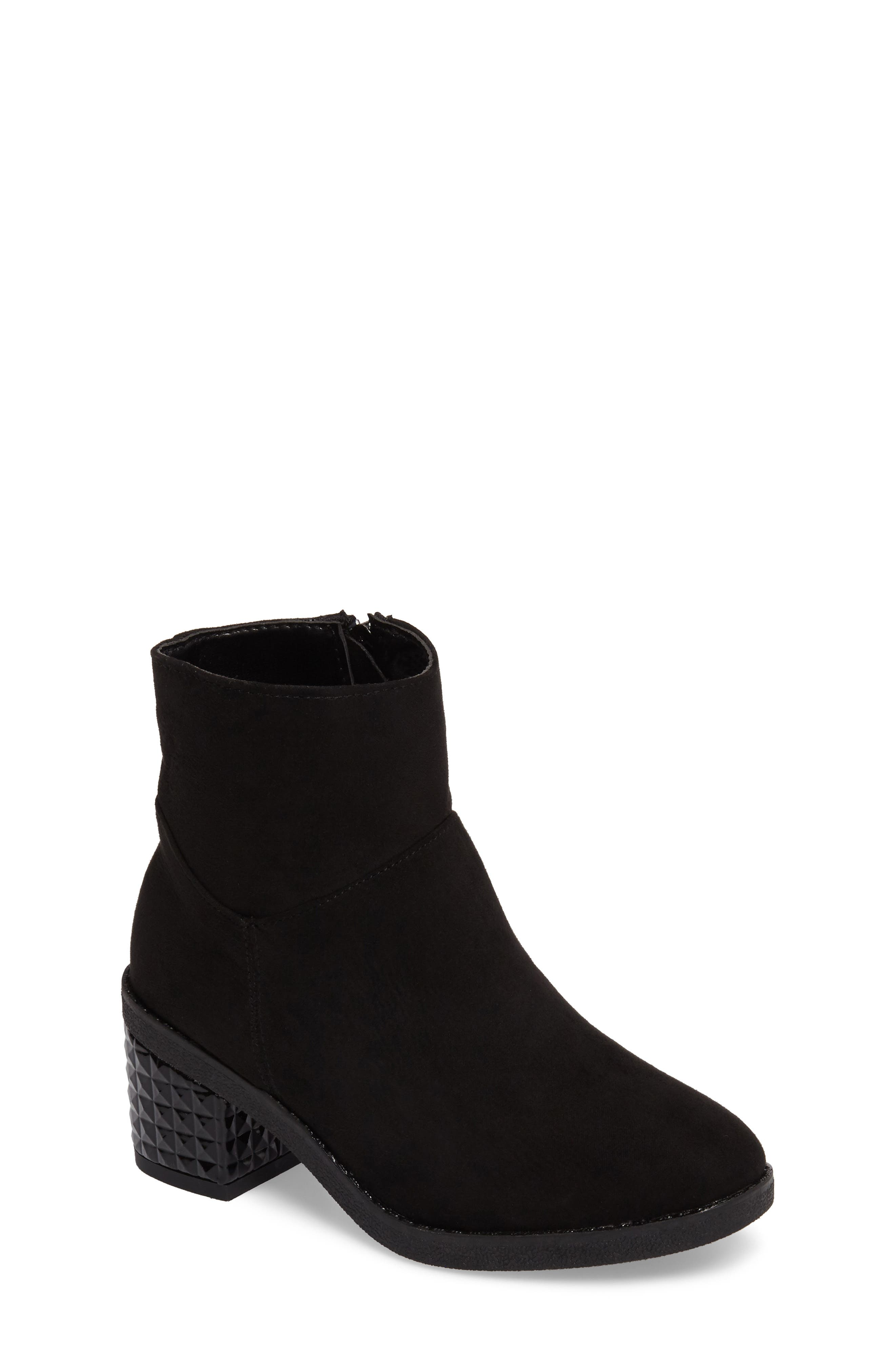 Fawn Dawn Bootie,                             Main thumbnail 1, color,                             Black
