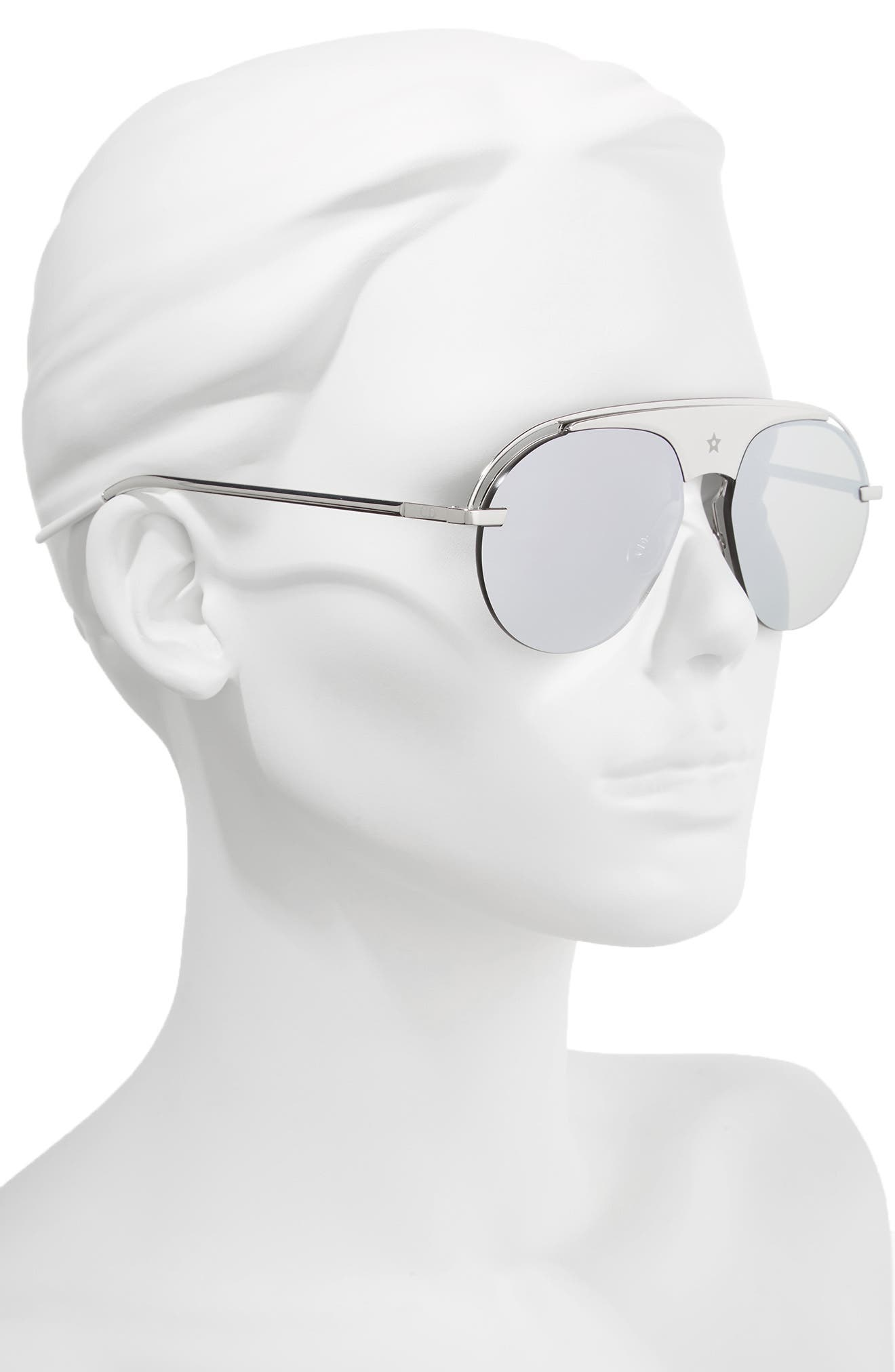 Evolution 2 60mm Aviator Sunglasses,                             Alternate thumbnail 2, color,                             Palladium