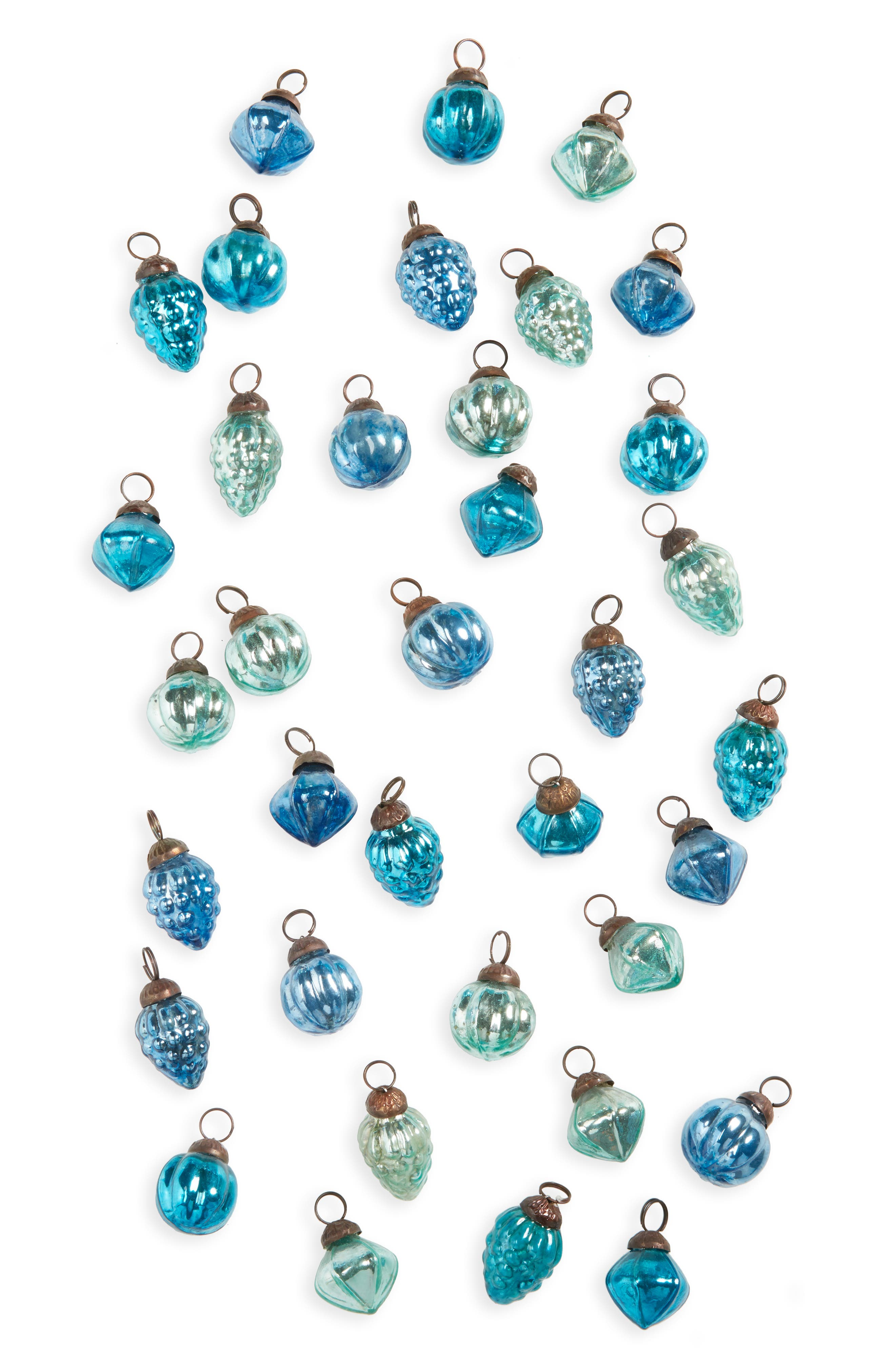 Creative Co-Op Set of 36 Mercury Glass Ornaments