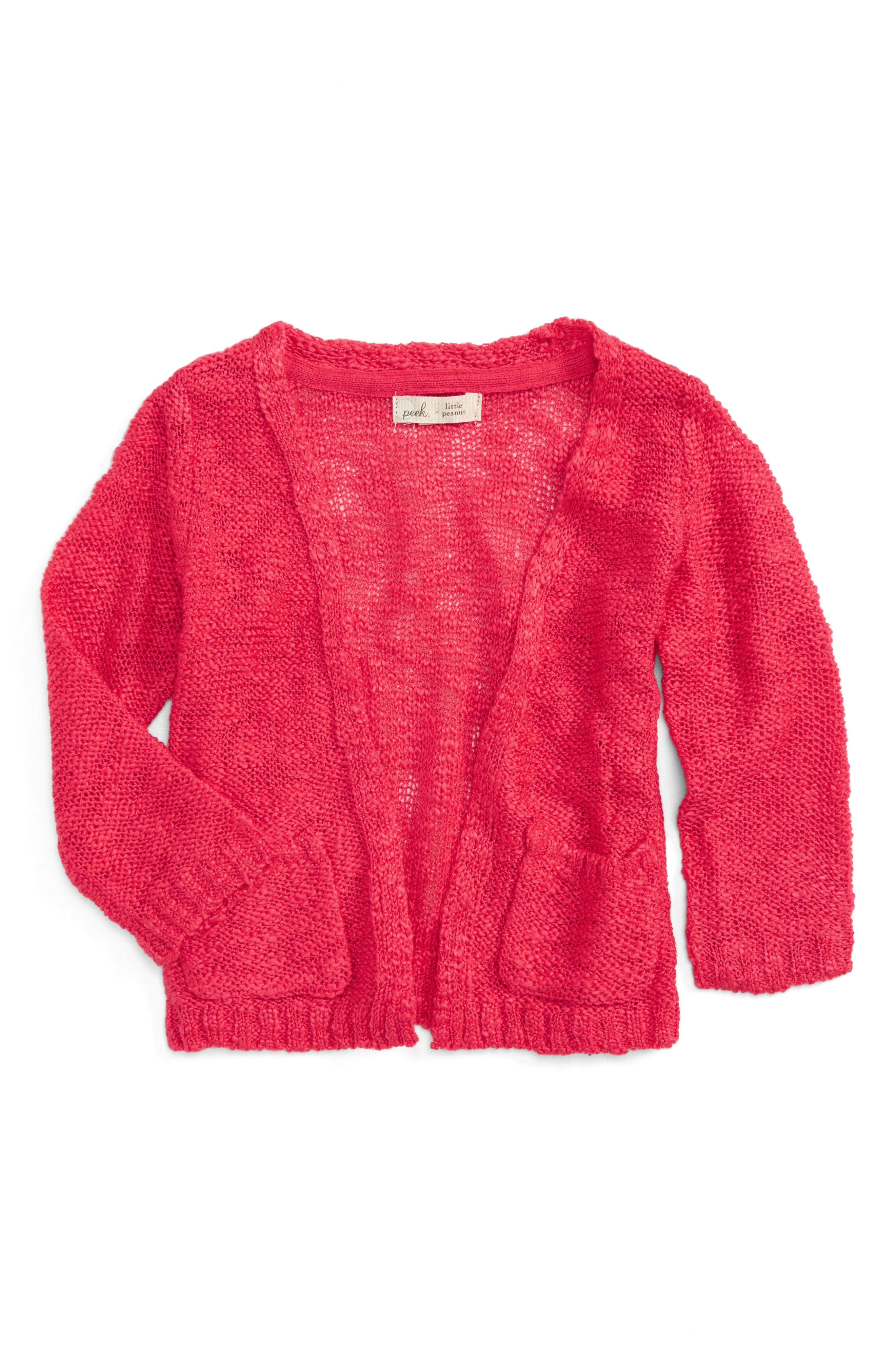 Cecile Cardigan,                         Main,                         color, Hot Pink
