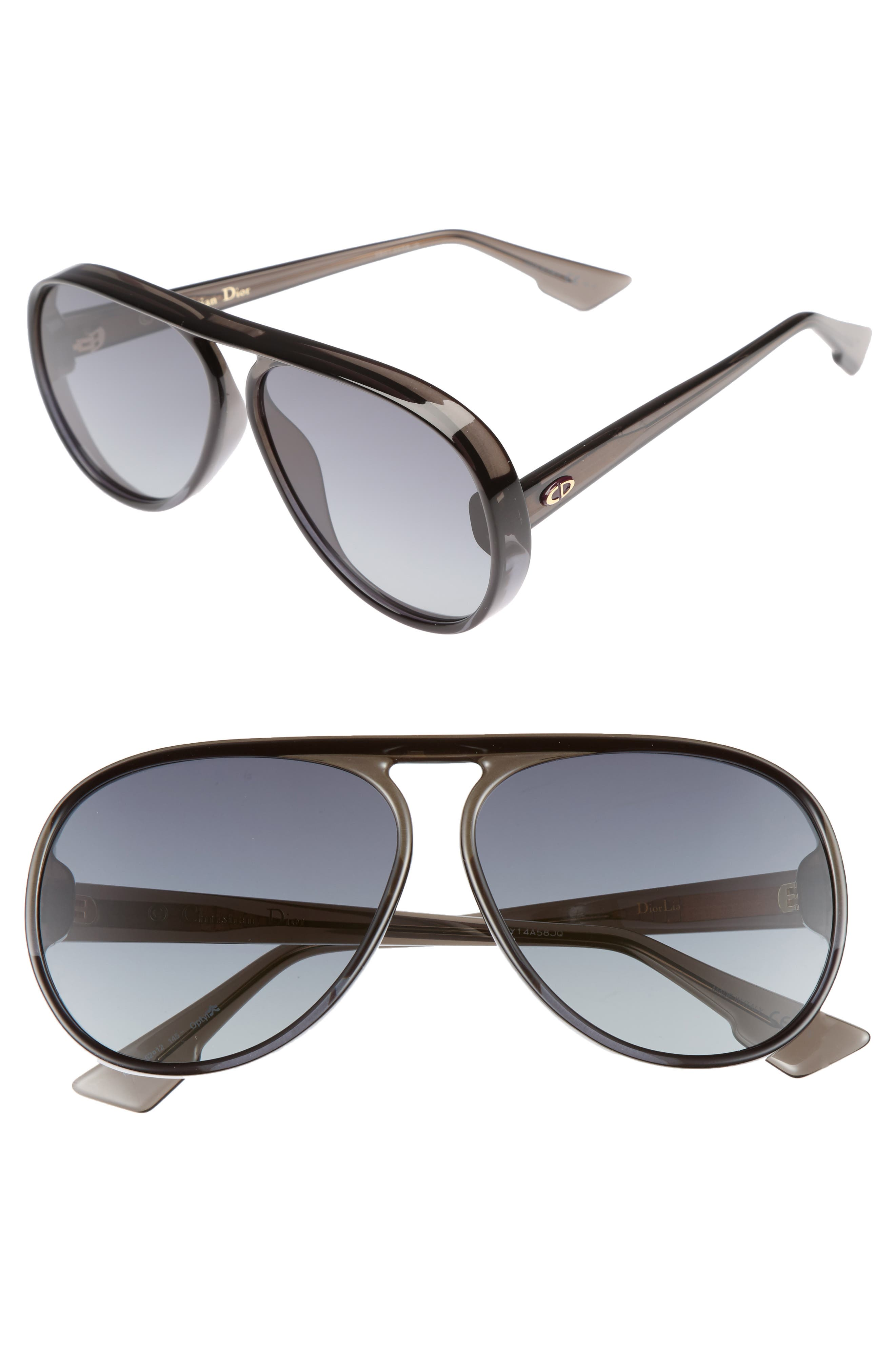 Dior Lia 62mm Oversize Aviator Sunglasses