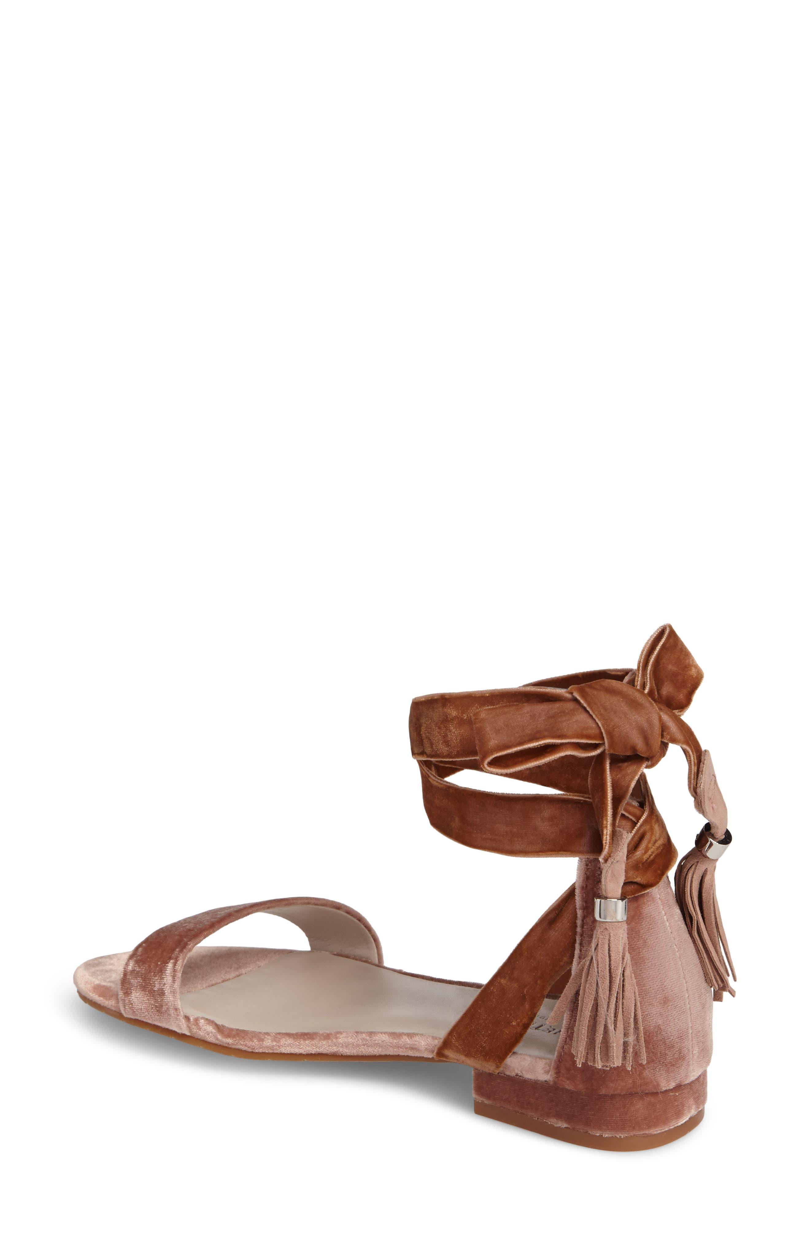 Valen Tassel Lace-Up Sandal,                             Alternate thumbnail 2, color,                             Blush Velvet