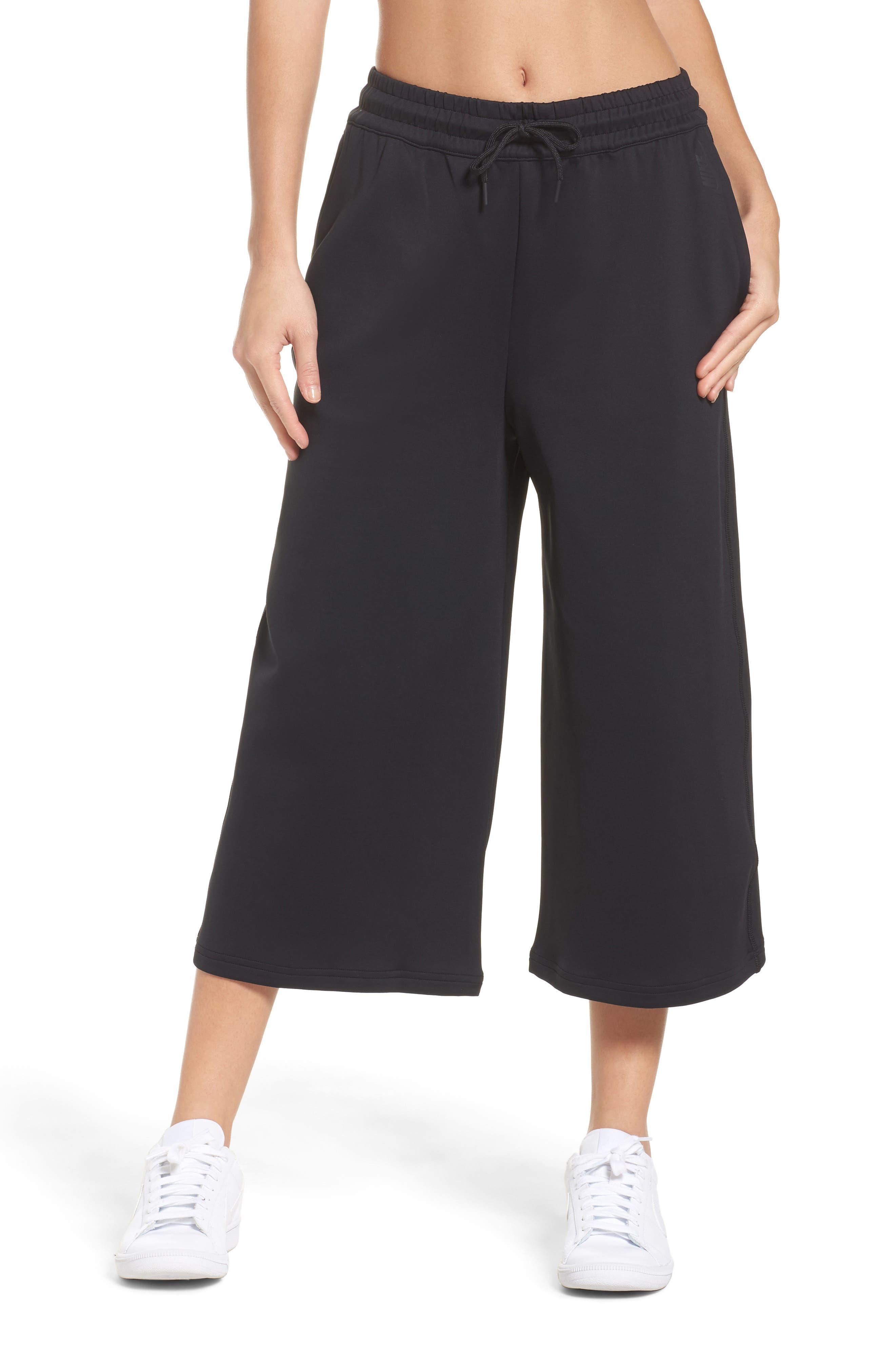 Essentials Culottes,                         Main,                         color, Black/ Black