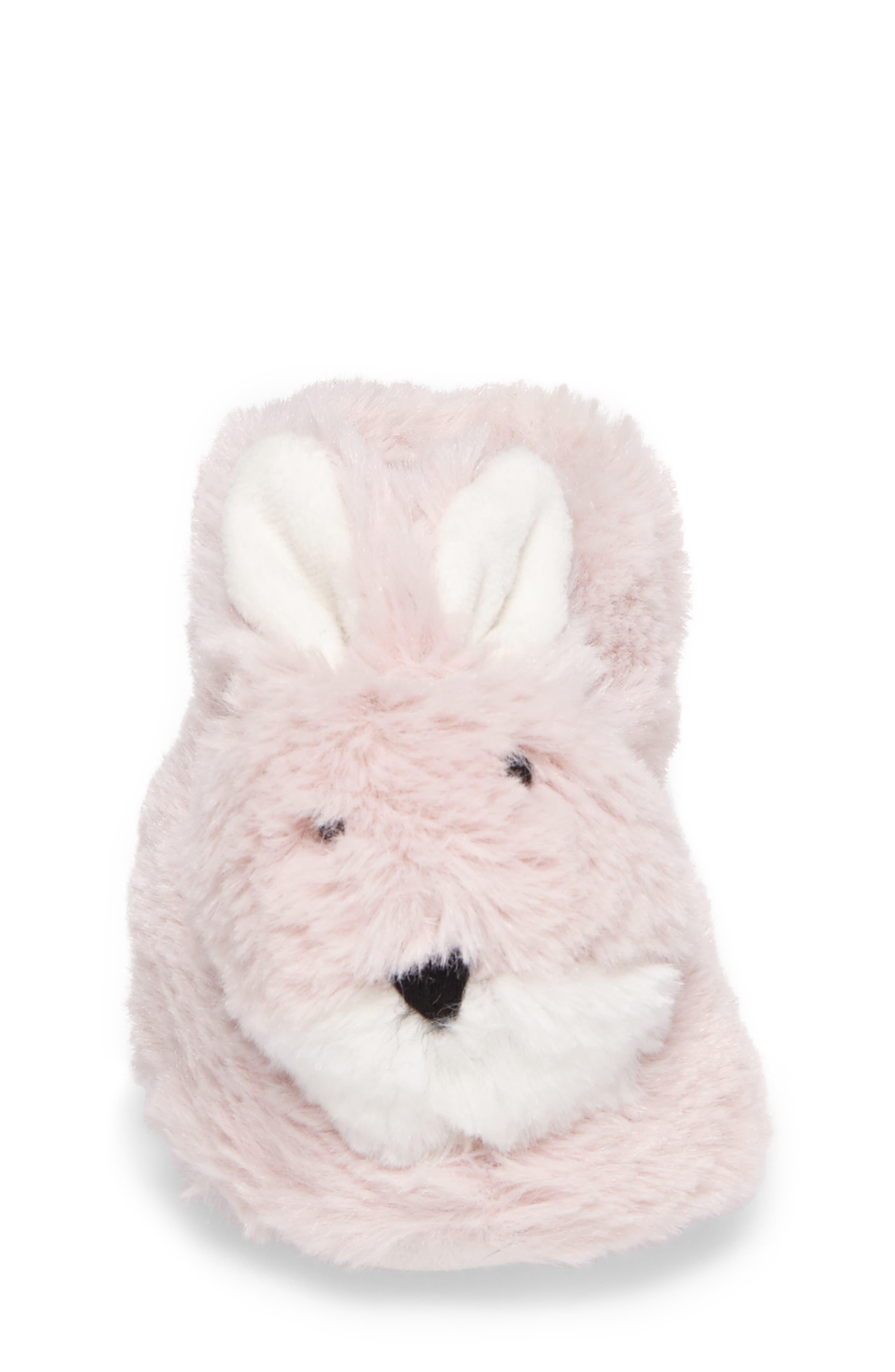 Plush Animal Slipper,                             Alternate thumbnail 4, color,                             Pink Bunny