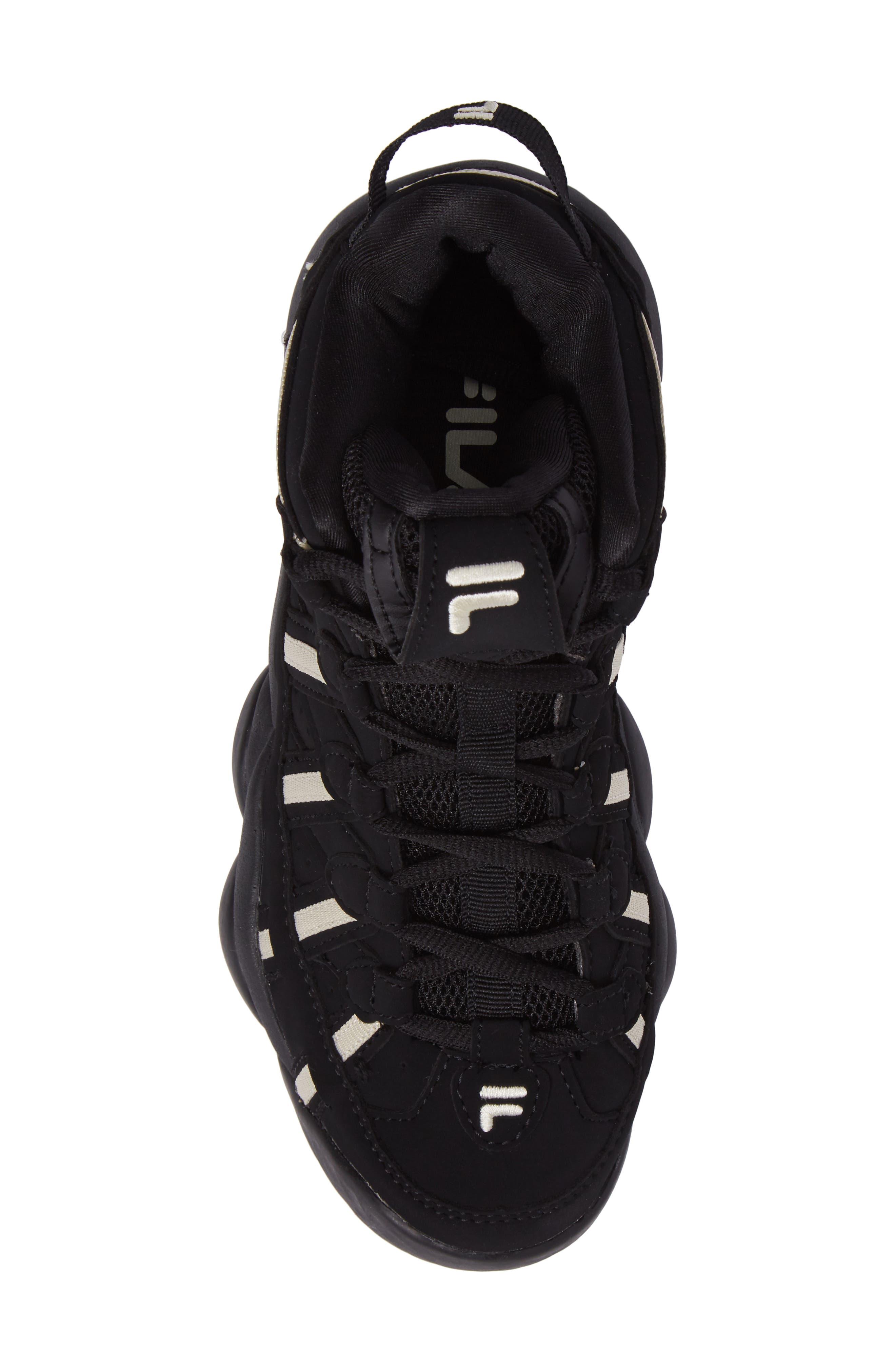 Spaghetti Deluxe Mid Top Sneaker,                             Alternate thumbnail 5, color,                             Black/ Cream