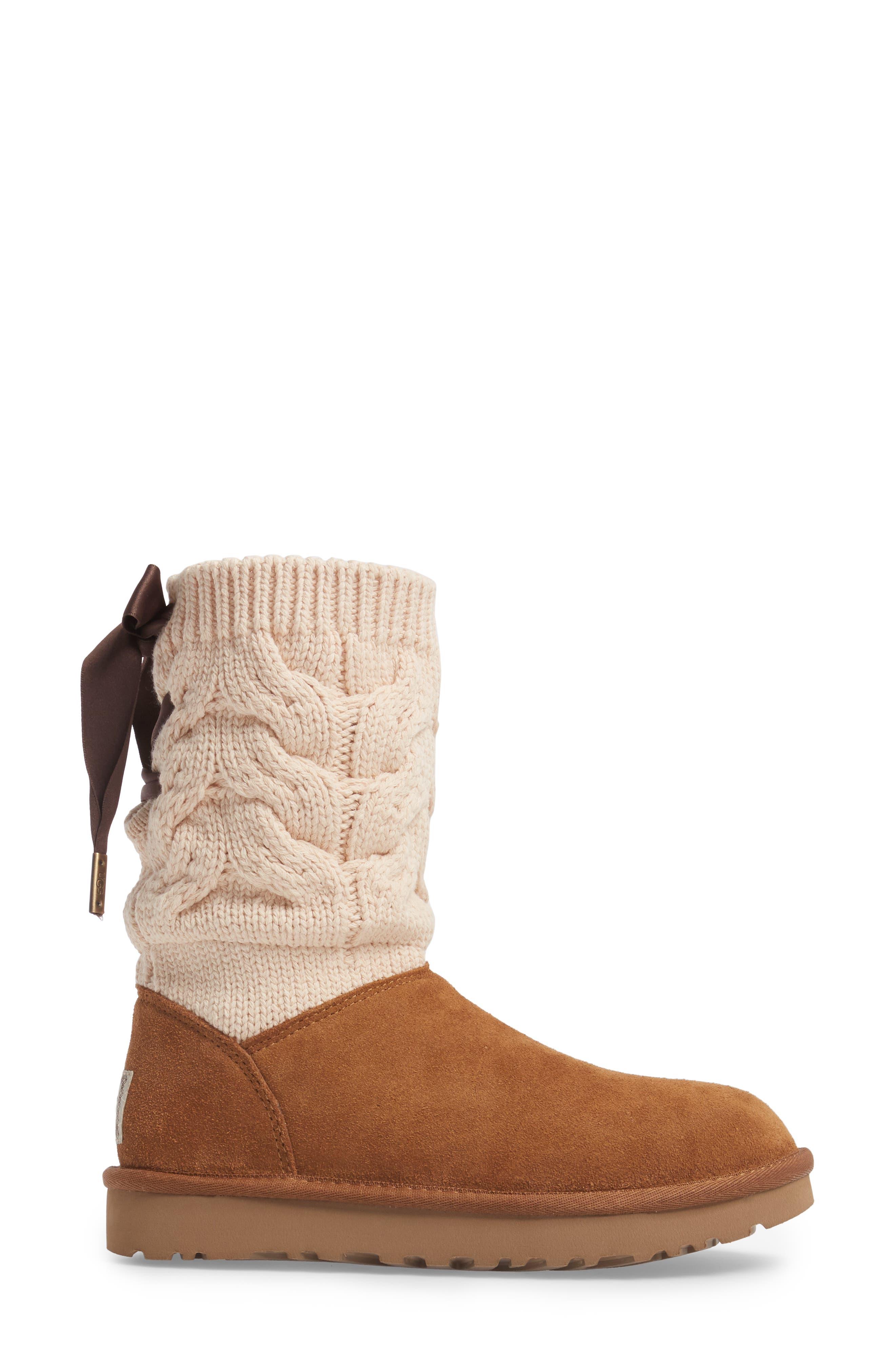 Kiandra Boot,                             Alternate thumbnail 3, color,                             Chestnut Suede