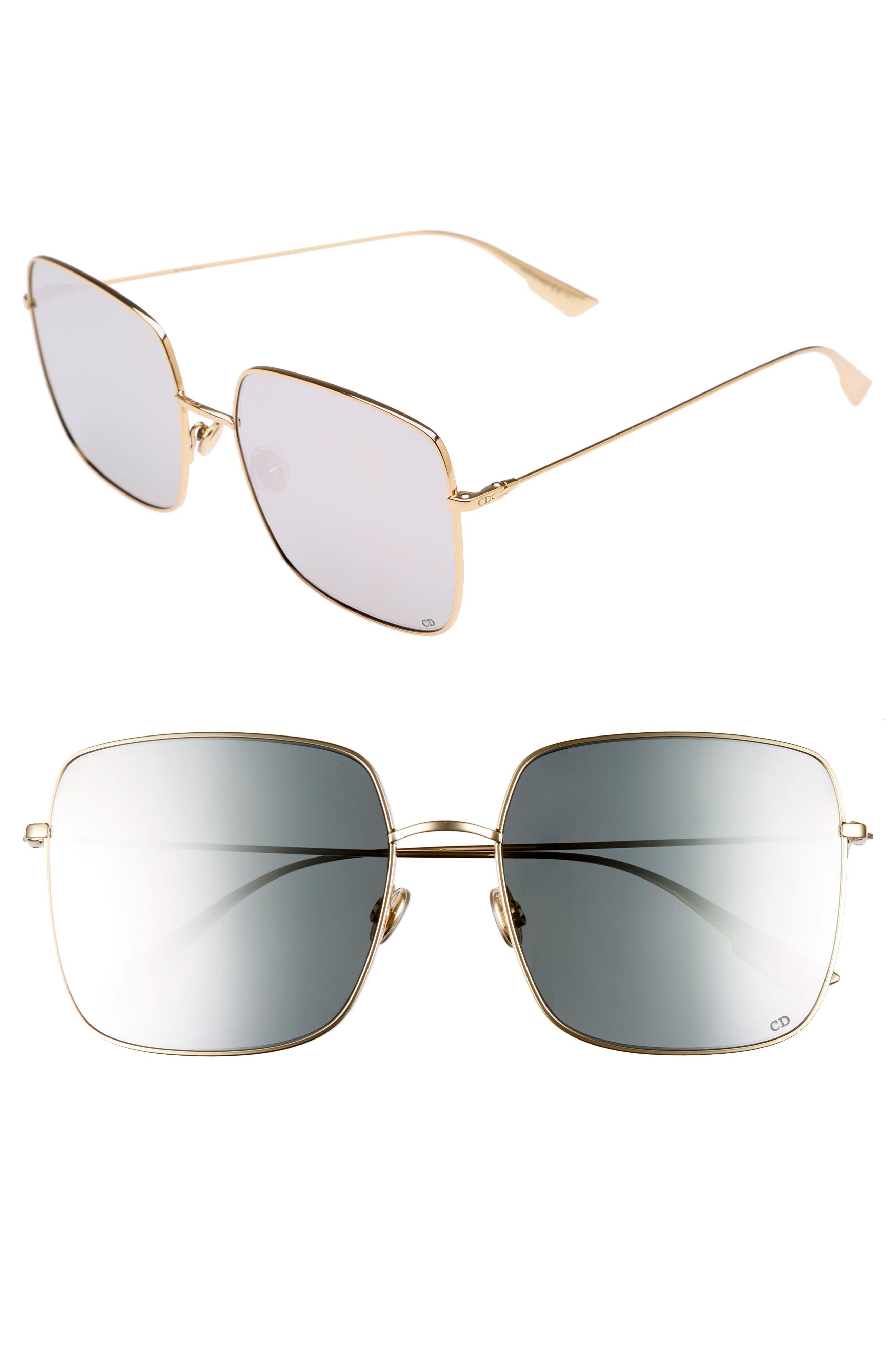 Main Image - Dior Stellaire 1 59mm Square Sunglasses