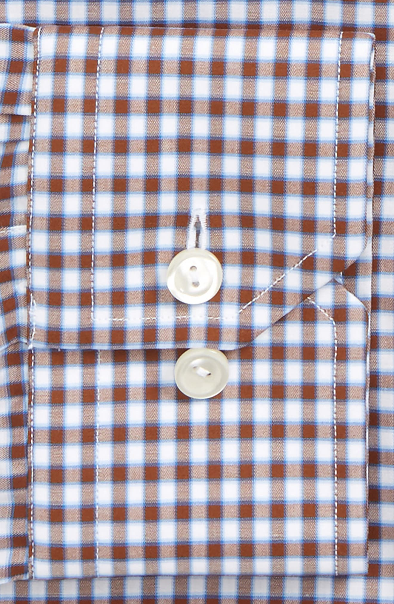 Contemporary Fit Check Dress Shirt,                             Alternate thumbnail 2, color,                             Brown